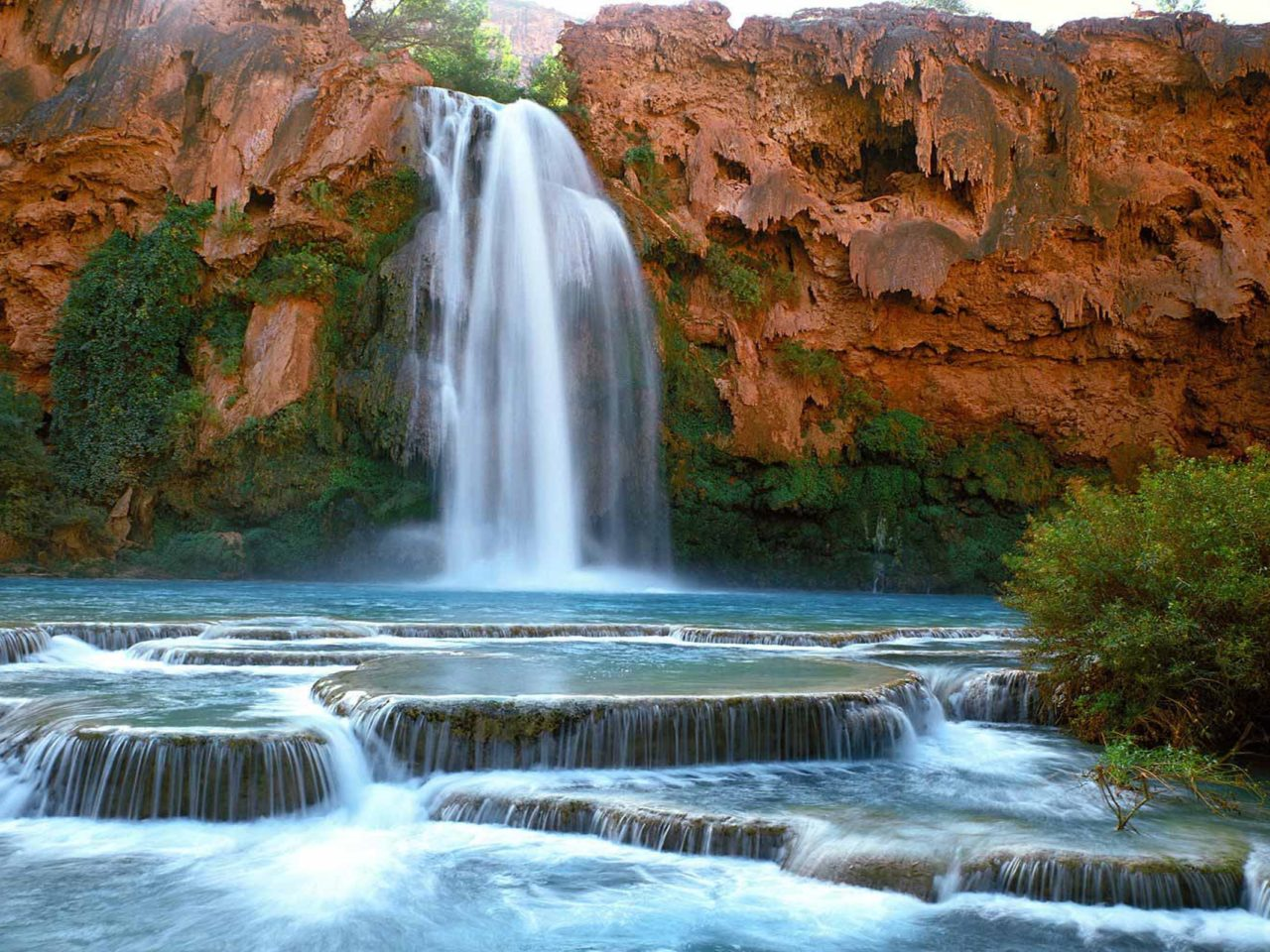Fall Autumn Hd Wallpaper 1920x1080 Havasu Falls Arizona Wallpaper Wallpapers13 Com