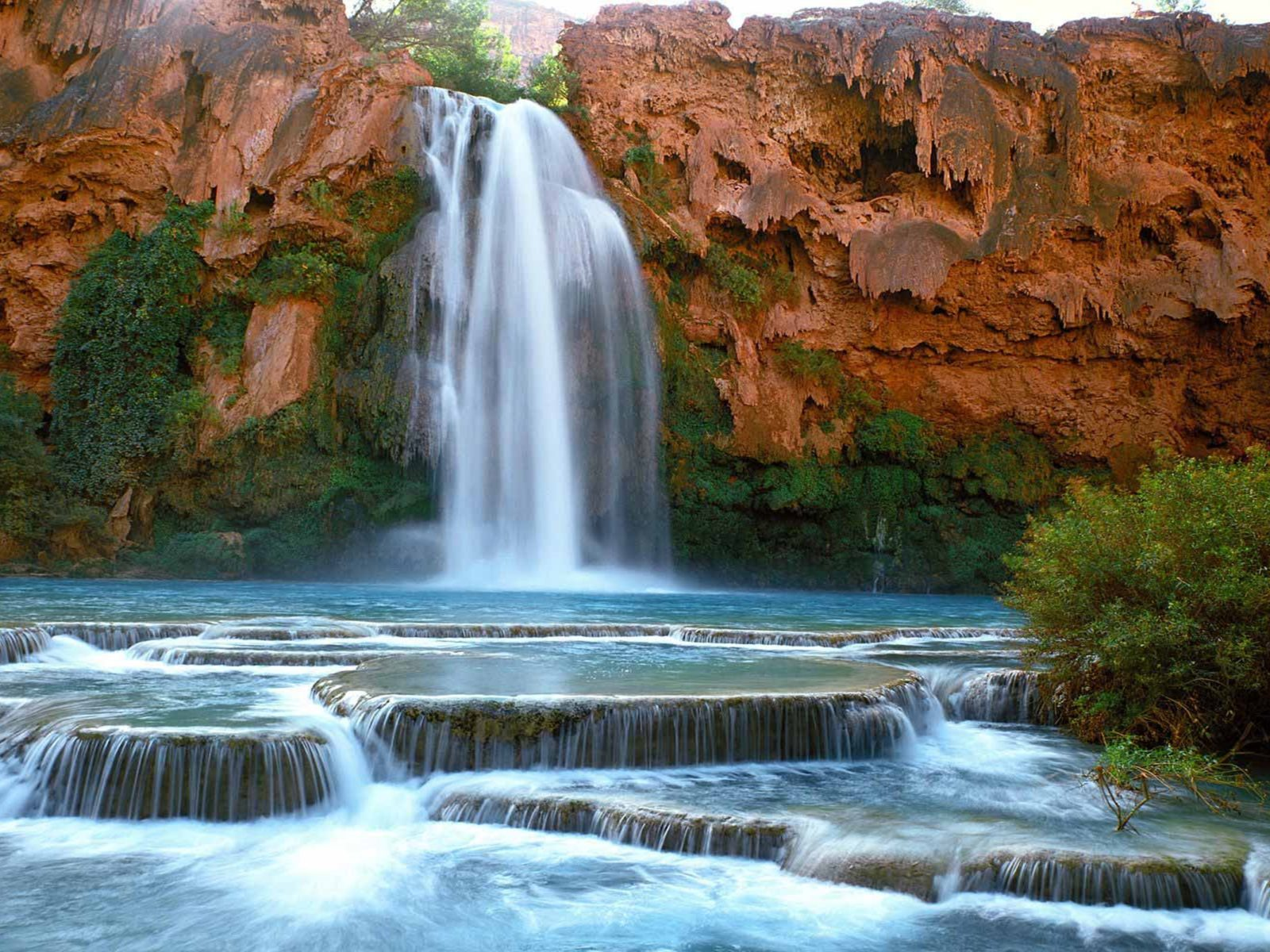 Havasu Falls Wallpaper Havasu Falls Arizona Wallpaper Wallpapers13 Com