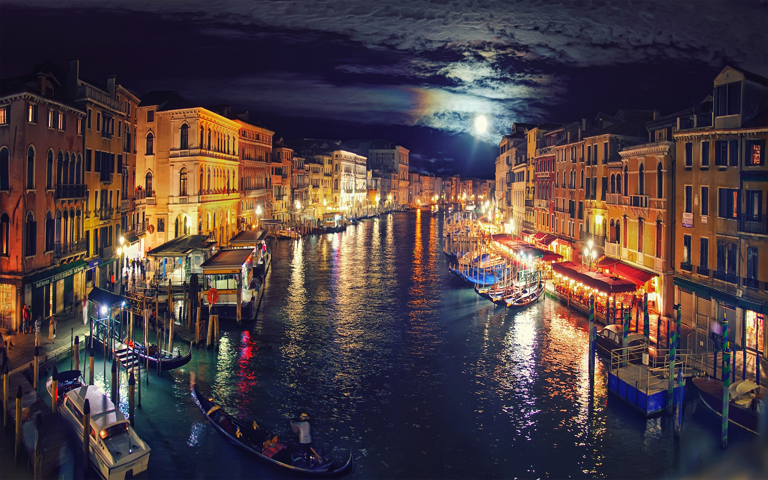 Iphone Lock Screen Wallpaper Hd Italy Venice Grand Canal Night Reflection 5421