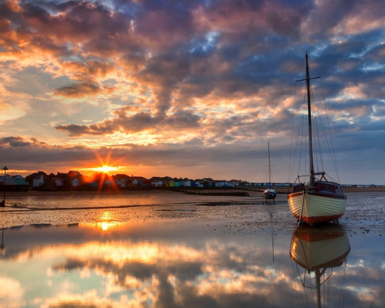 Boat Wallpaper Iphone Lakes Ocean Sea Bay Harbor Water Reflection Sky Clouds
