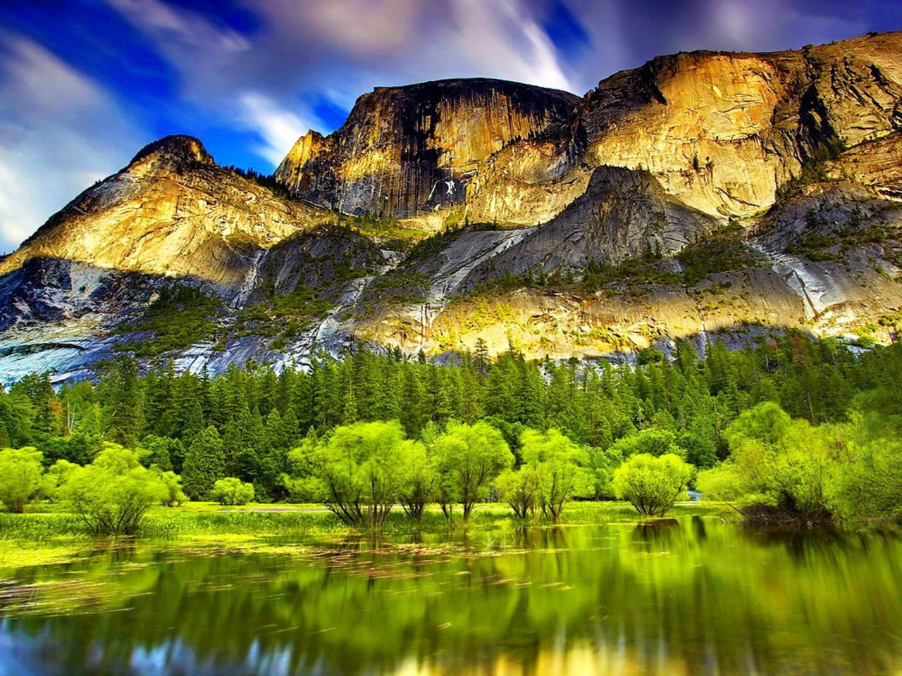 1366x768 Wallpapers Hd Cars Mountain Spring Lake Pine Forest 8753 Wallpapers13 Com
