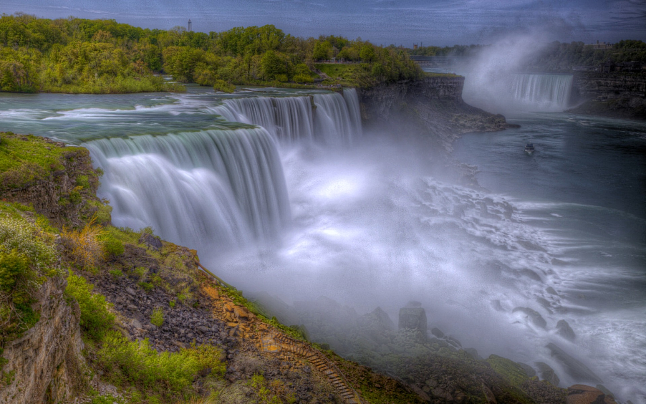Niagara Water Falls Desktop Wallpaper Niagara Falls Hdr Wide Wallpaper 582050 Wallpapers13 Com