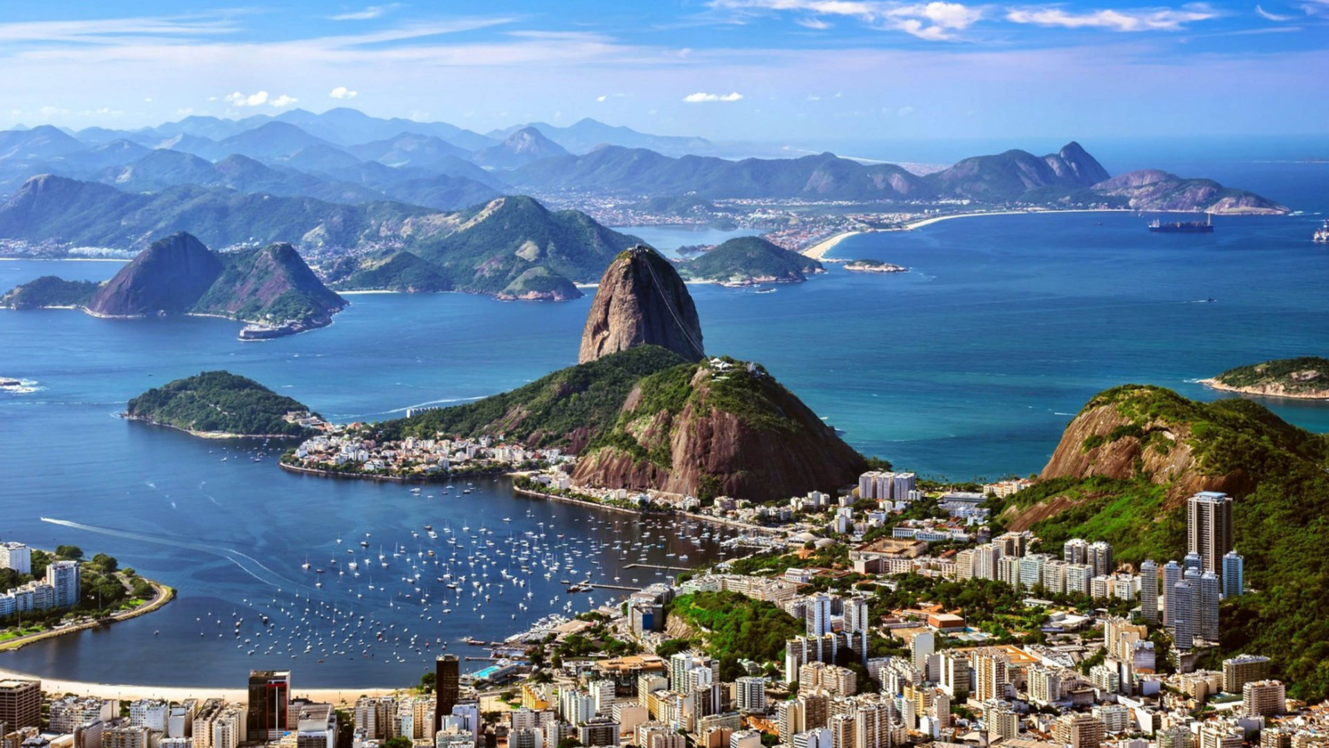 Android Wallpaper Hd 1080p Rio De Zhaneiro Brazil Mountains Sea City Skyline Hd