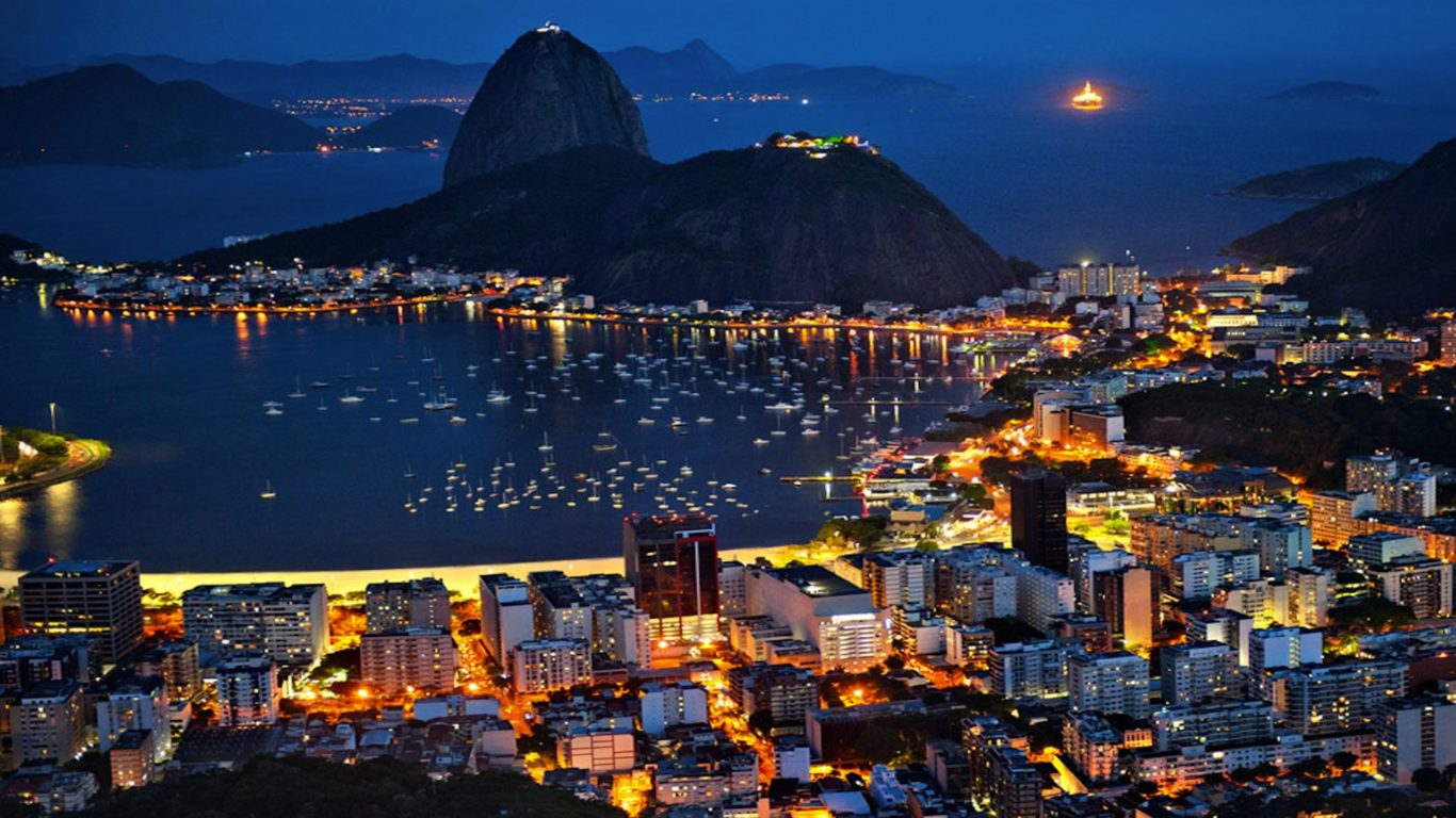 New York Iphone Wallpaper Rio De Janeiro At Night Pictures Wallpaper Wallpapers13 Com