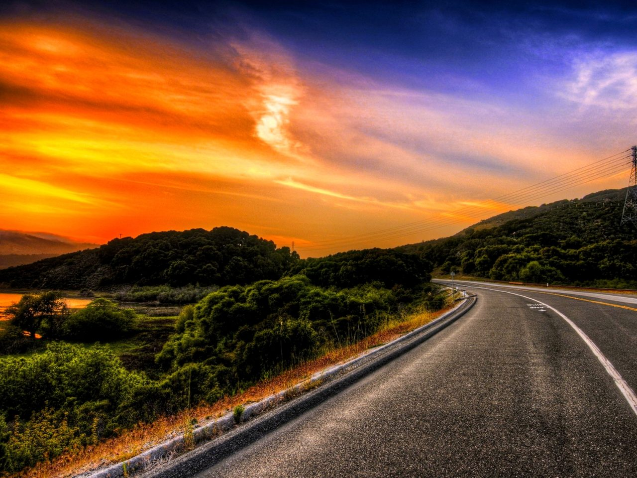 Amazing Wallpapers For Iphone 4 Road To The Horizon 235818 Wallpapers13 Com