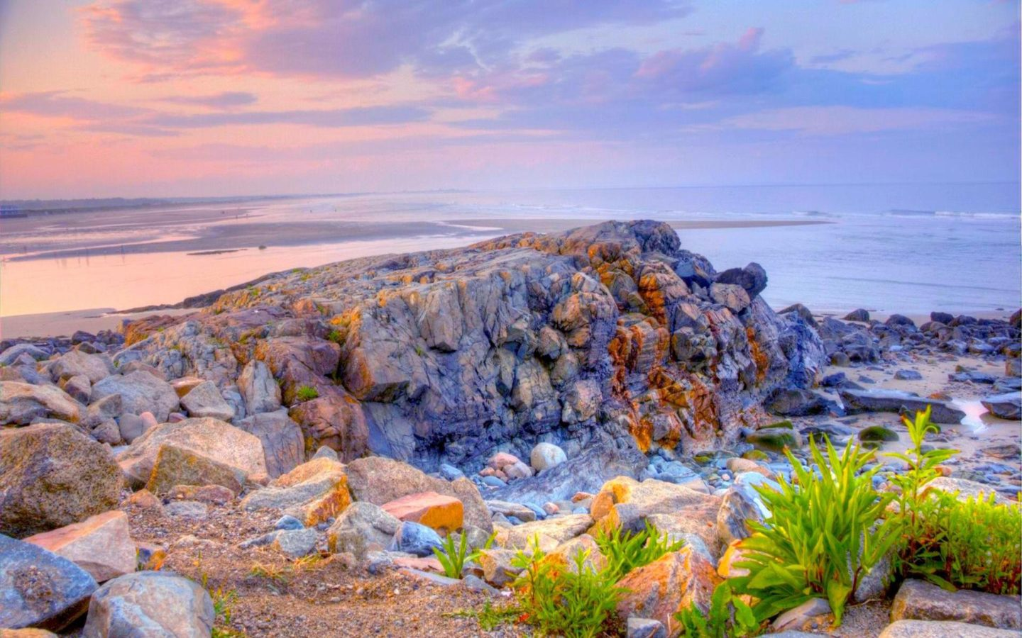 Exotic Cars Wallpaper 1920x1080 Rock Wall On The Beach At Jacks Cove In Maine Hdr Hd