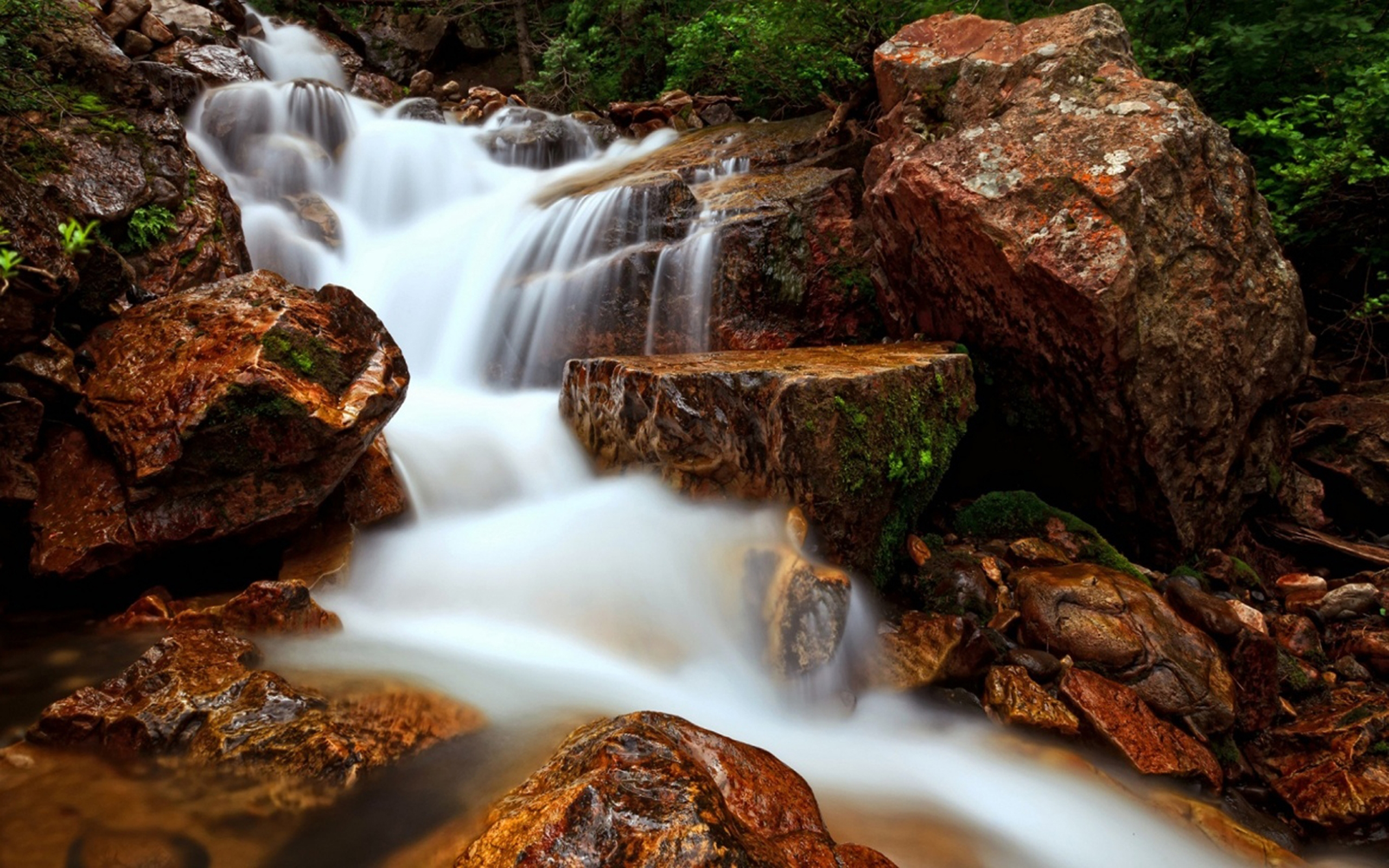 Free Android Fall Wallpaper Waterfall Flow Water Rock Beautiful Hd Wallpaper