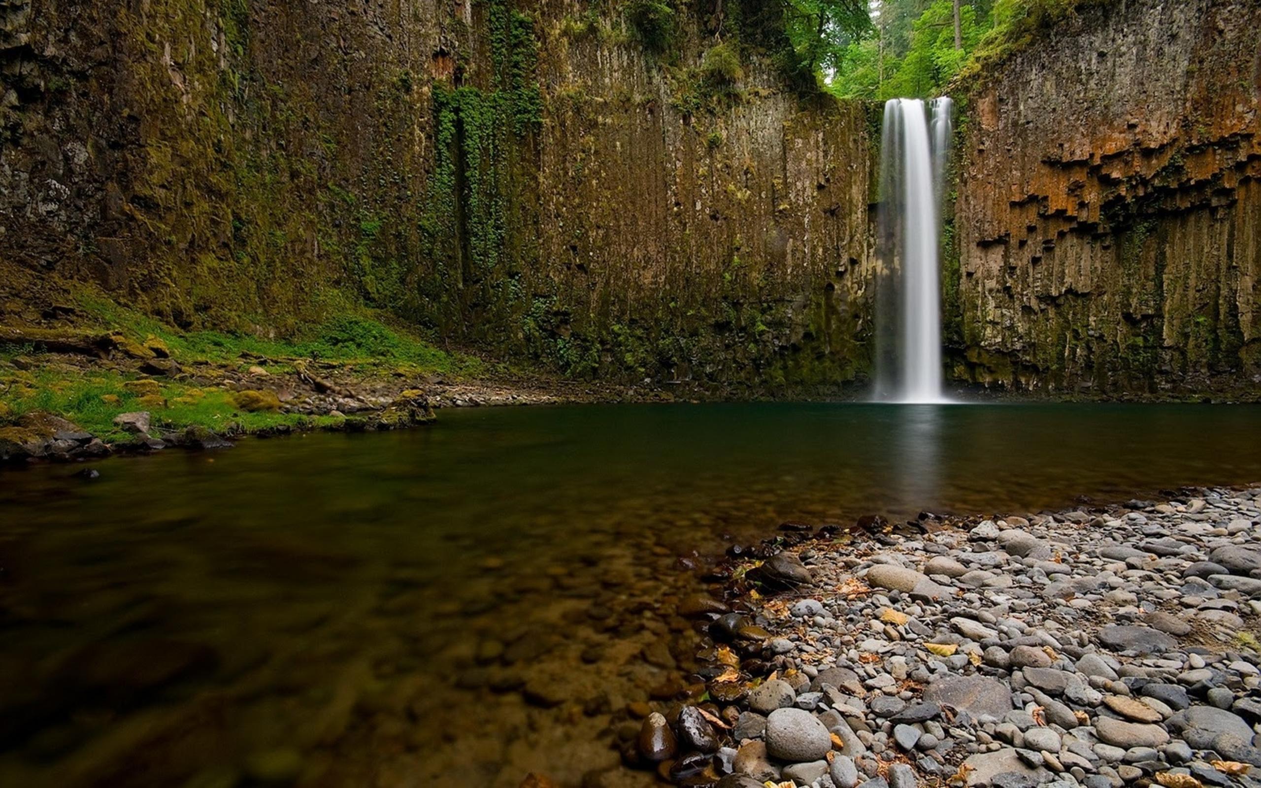 Iphone 5 Wallpaper Hd Star Wars Stones River Waterfall Nature Wallpaper Hd