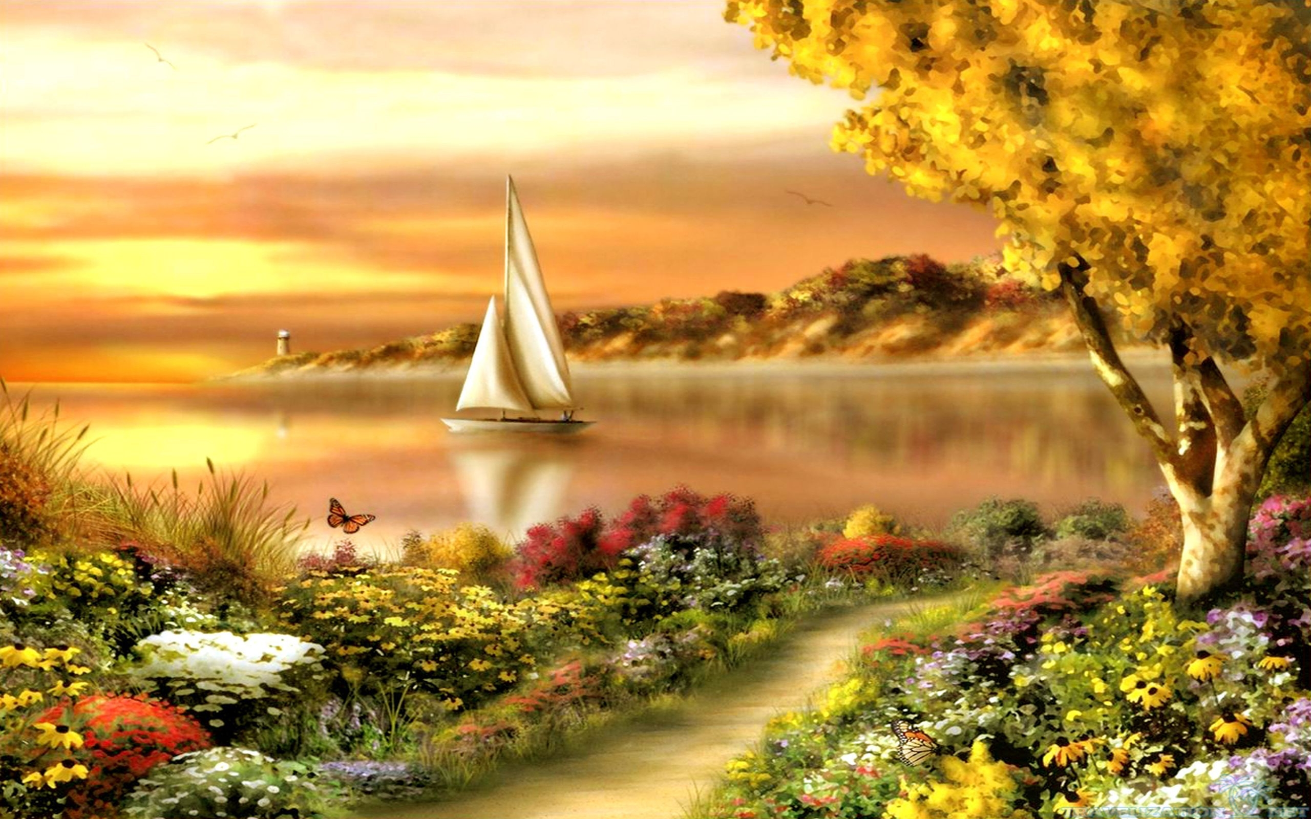 Late Fall Wallpaper Nature Summer Scenes Wallpapers 2560x1600 Wallpapers13 Com