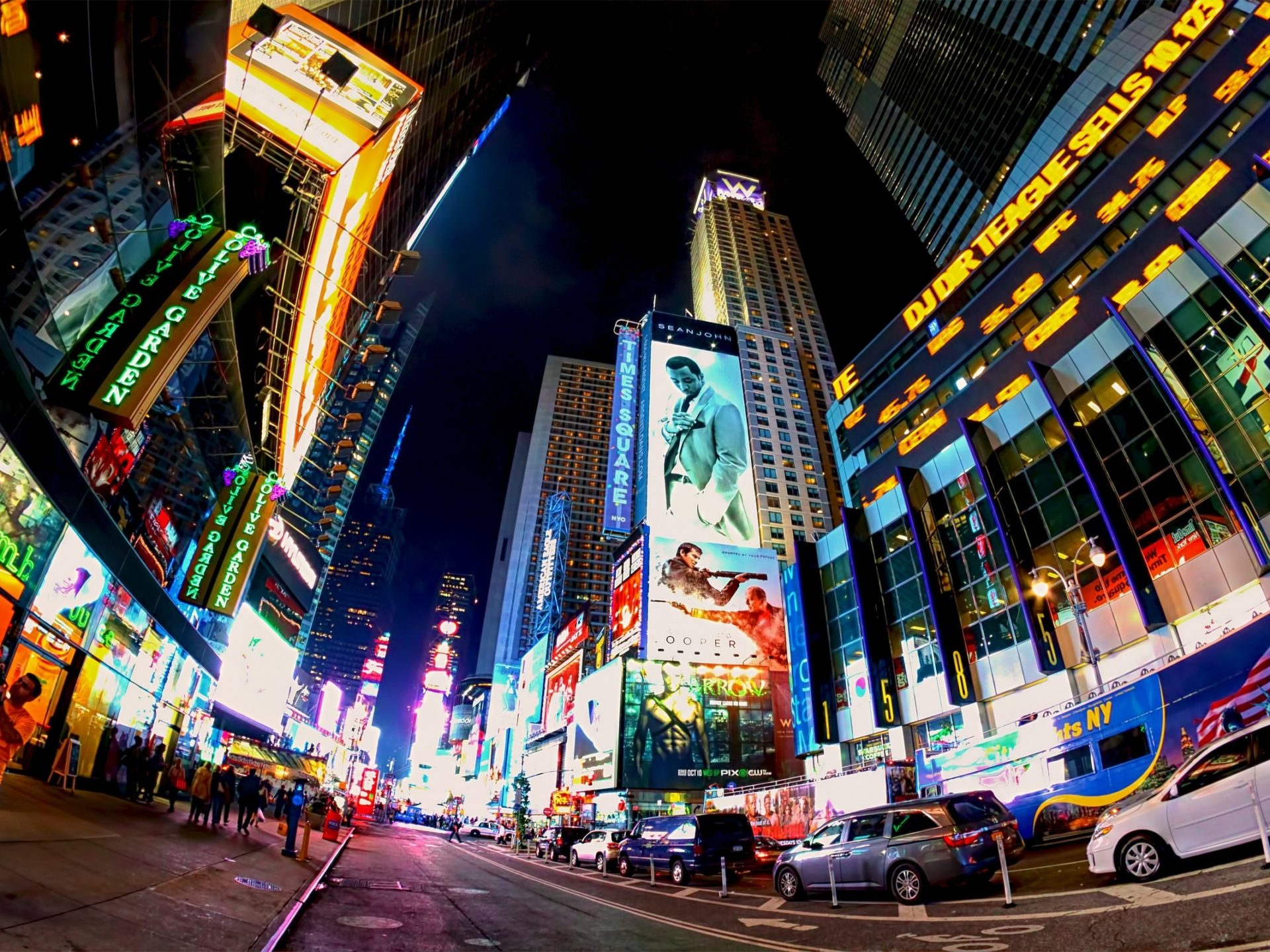 Iphone X New York Wallpaper Times Square At Night 256890 Wallpapers13 Com
