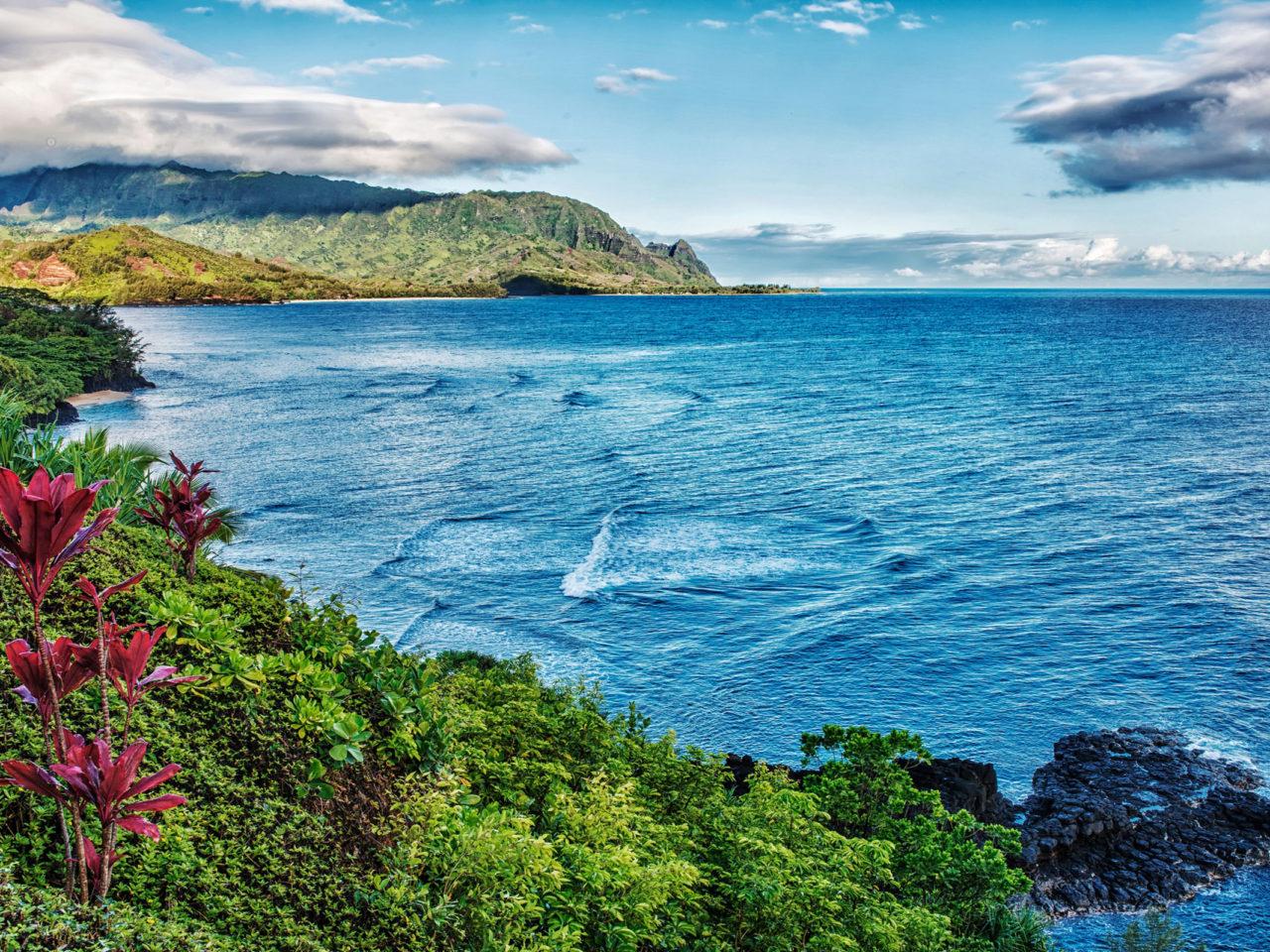 Surf Wallpaper Iphone X View Of Bali Hai Mount Makana From Pali Ke Kua Princeville