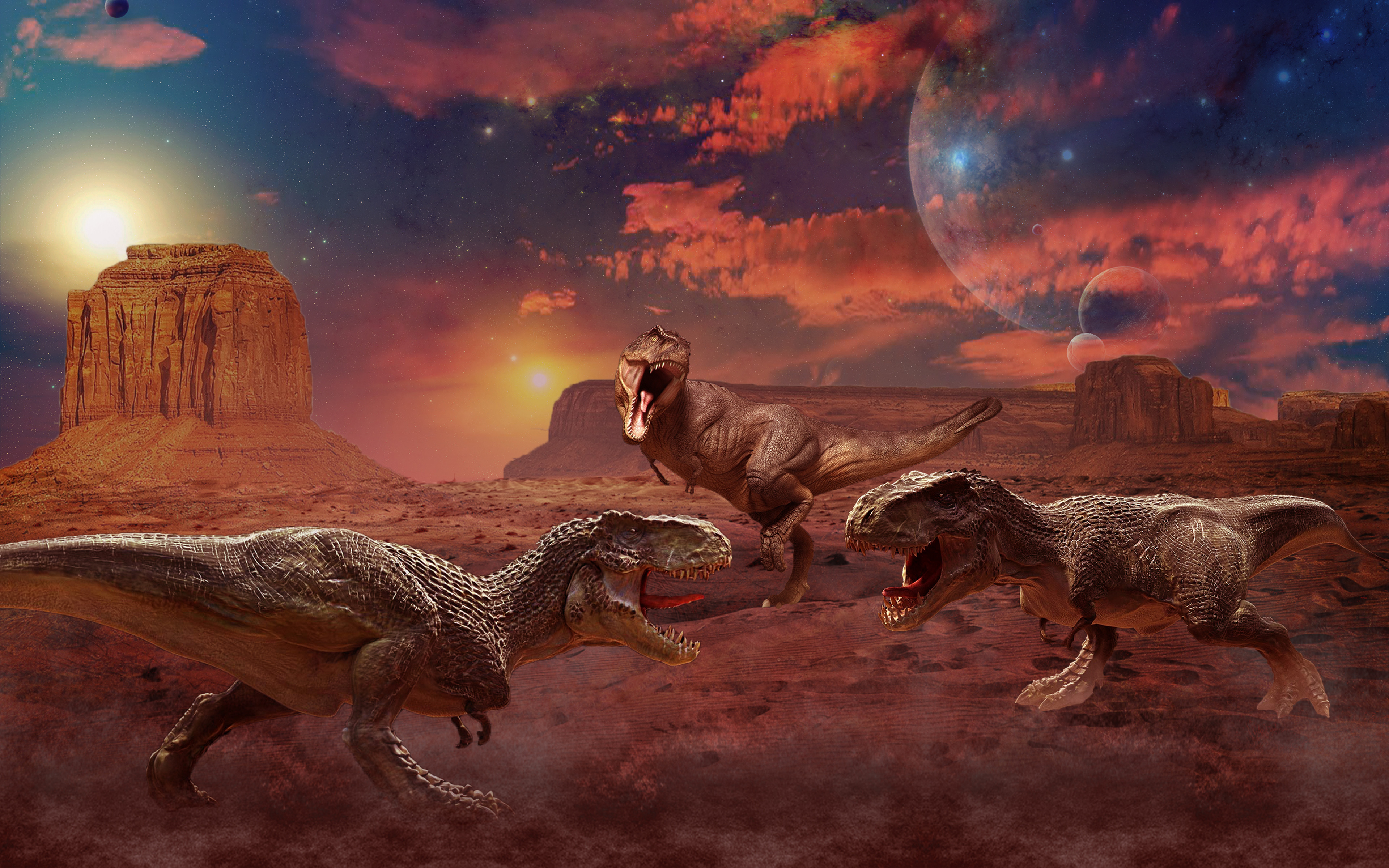 Good Wallpapers For Iphone 5 Ancient Animals Dinosaurs Painting Art Three 3 Animals Hd