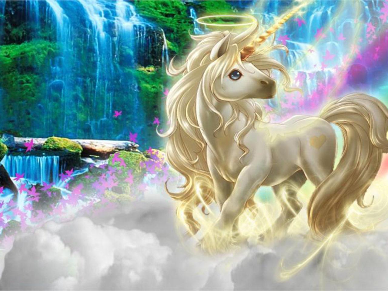 3d Animal Wallpaper Desktop Beautiful 3d Picture Unicorn Silk Clouds Rainbow Wallpaper