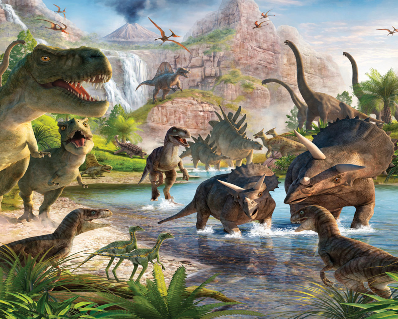 Download New 3d Wallpapers For Pc Dinosaurs Wallpapers For Desktop 11686 Full Hd Wallpaper
