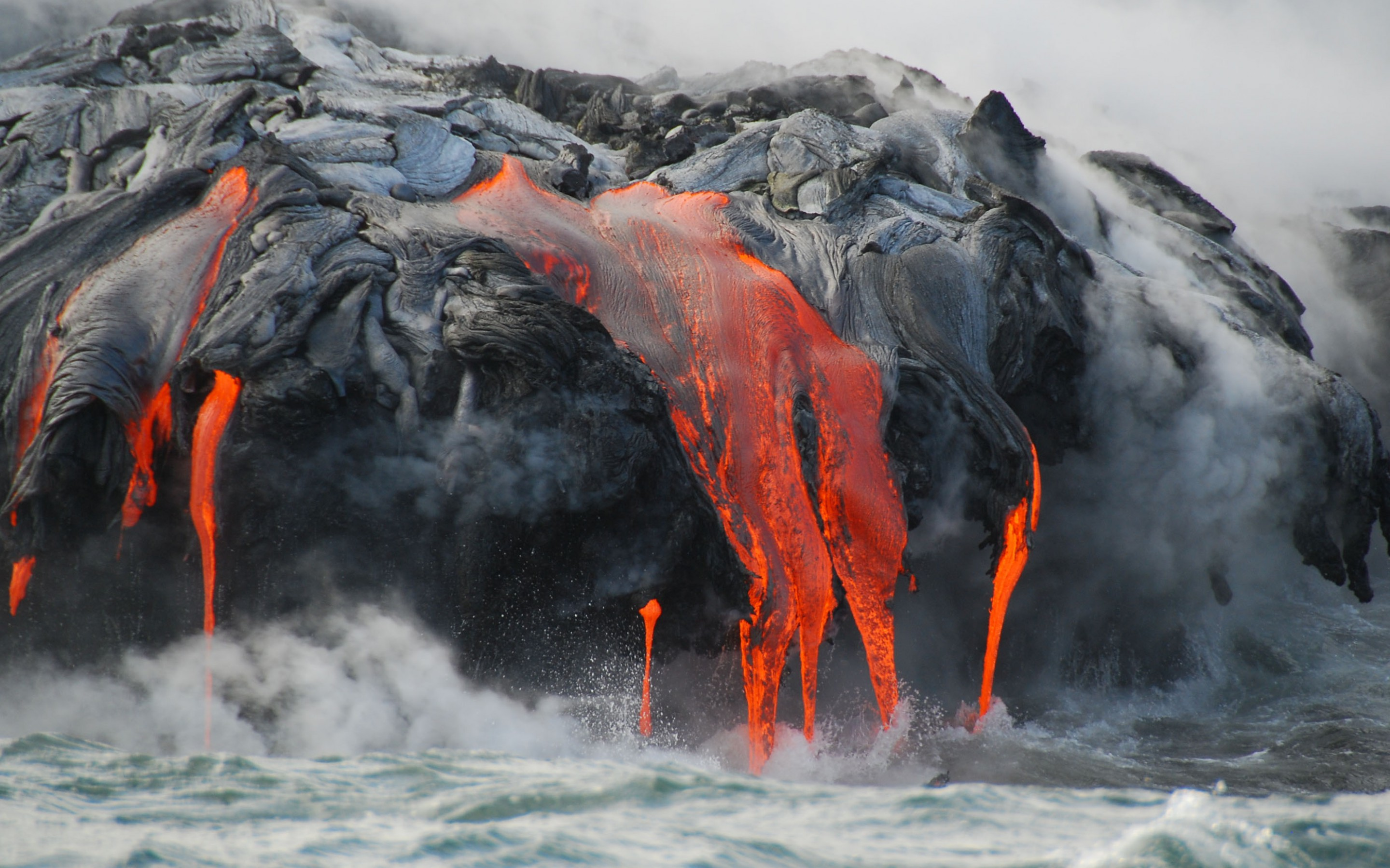 1366x768 Fall Wallpapers Lava Flow From Hawaii Volcano United States 1800x2880