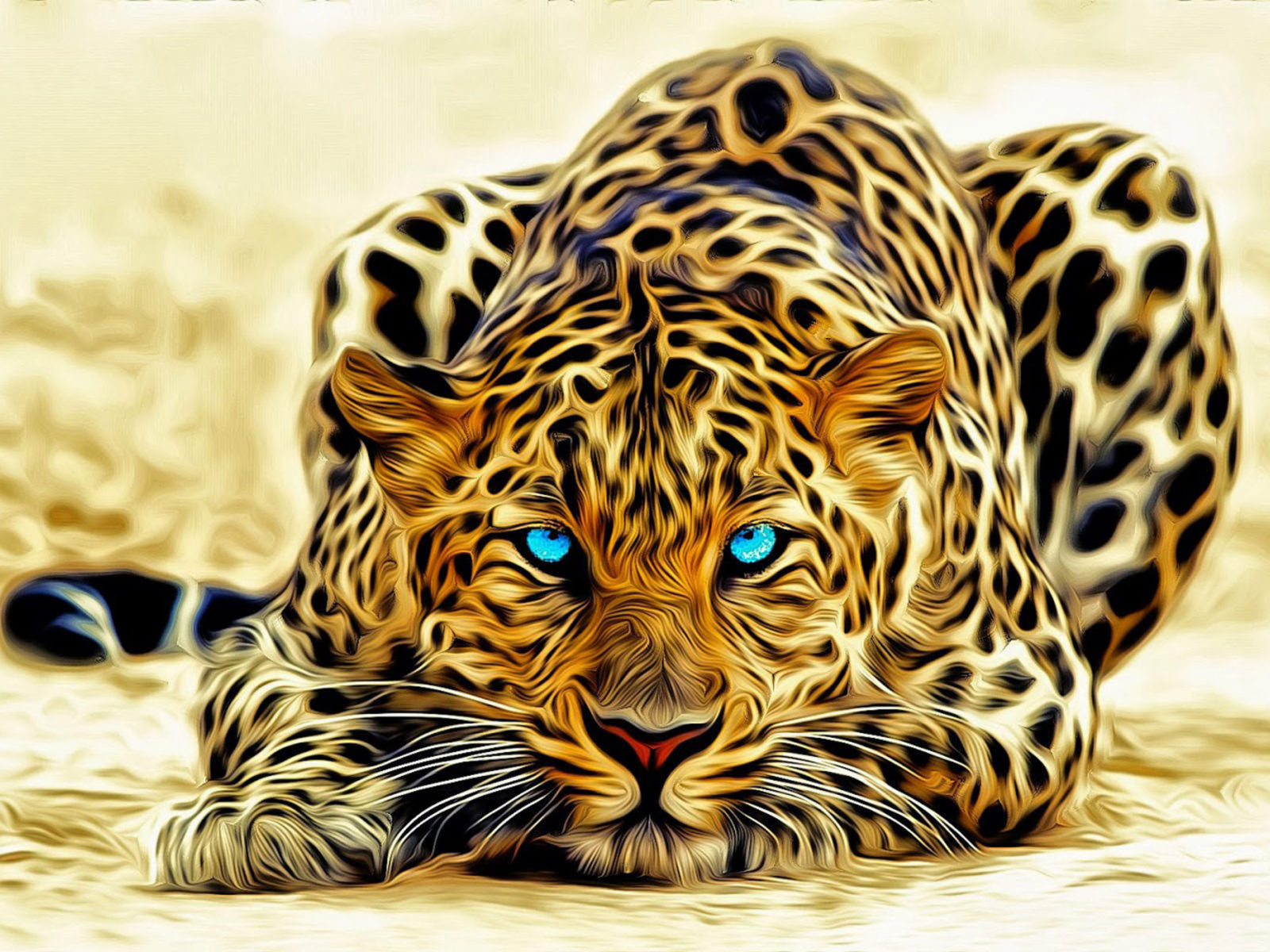 Bobcat Wallpaper Hd Leopard Art Abstract 3d Wallpaper Hd 3840x2400