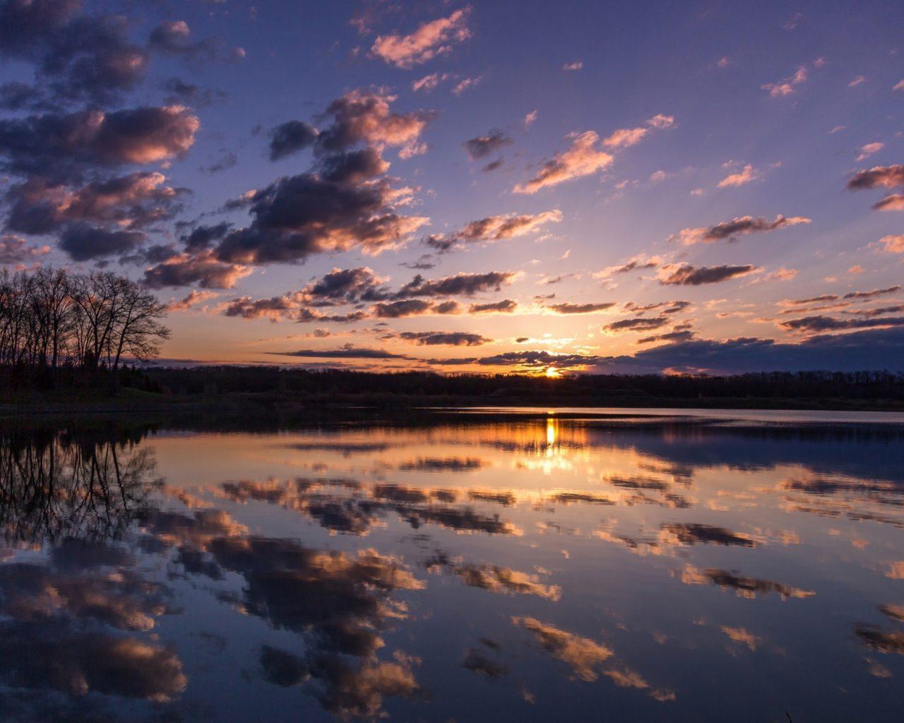 Falls Hd Wallpaper Free Download Sunrise Hd Wallpapers Lake Forest Dark Clouds