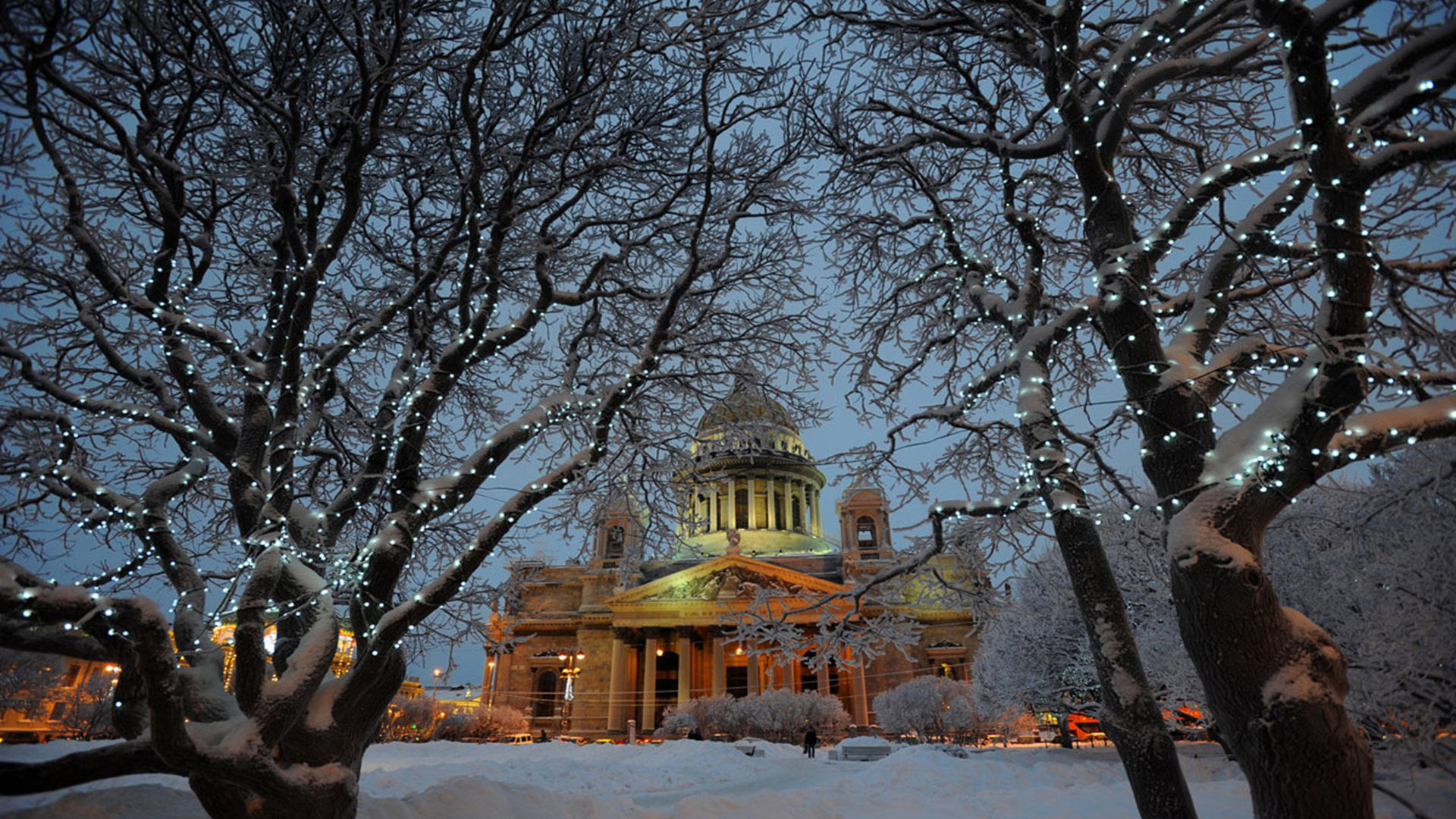 Wallpaper Amazing Cars Wallpaper Winter Church Trees Snow St Petersburg Peterhof