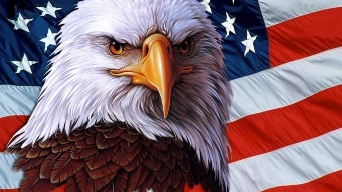 3d Fall Desktop Wallpaper American Eagle Symbol Usa Independence Freedom 3840x216