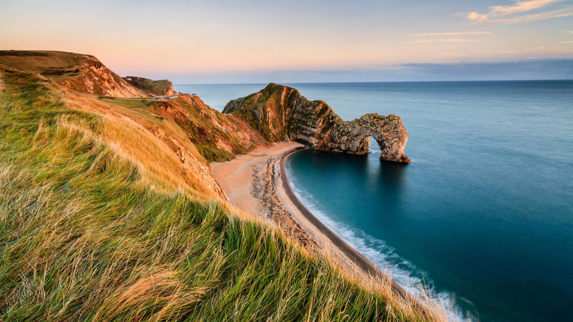 New England Fall Wallpaper Durdle Door Is Located Near Lulworth In Dorset England