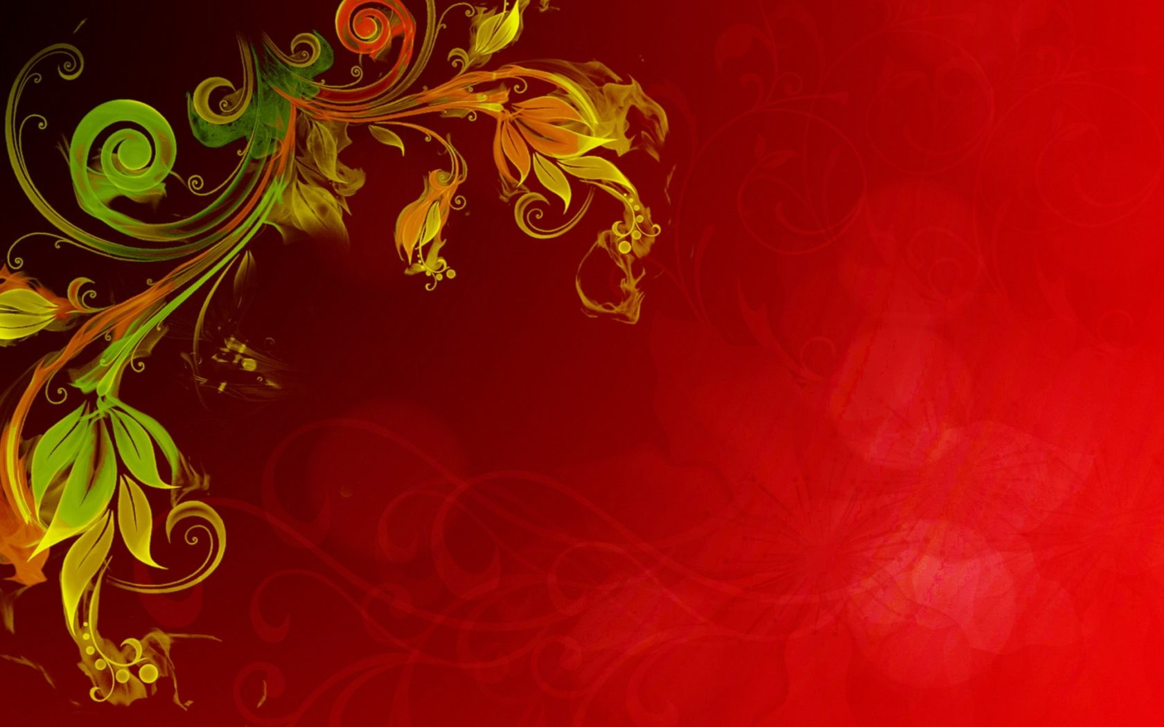 Free Fall Wallpaper For Iphone 5 Floral Vector Red Background Hd Wallpapers13 Com