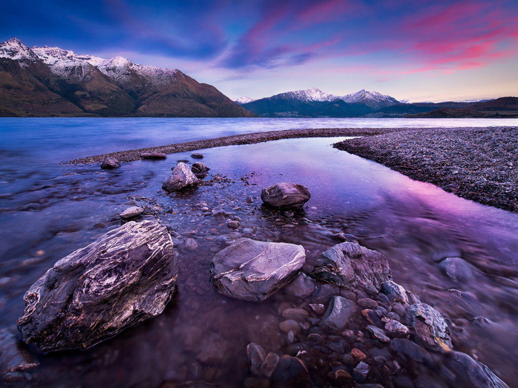 Fall Mountain Desktop Wallpaper Lake Wakatipu Queenstown New Zealand Wallpapers13 Com
