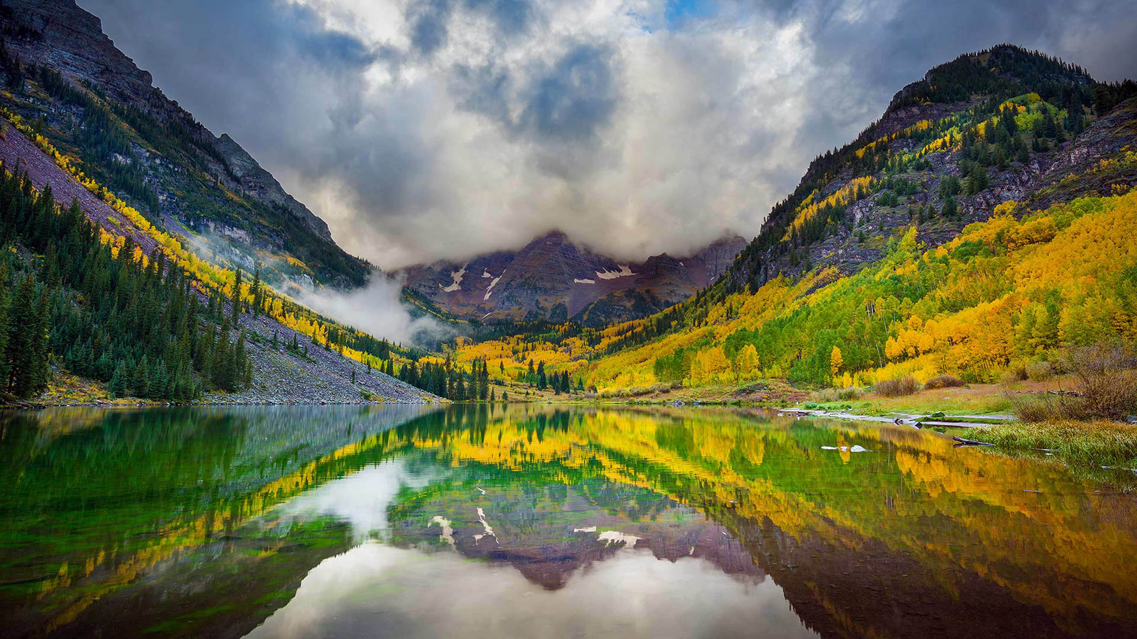 Fall In Colorado Wallpaper Maroon Lake And The Maroon Bells Snowmass Wilderness