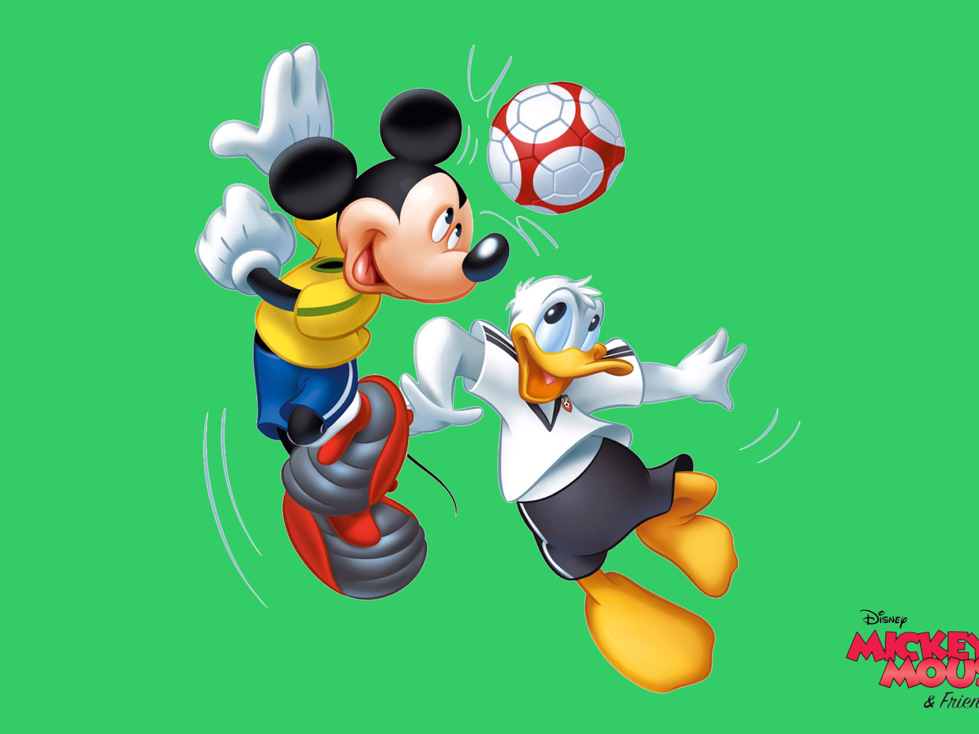 Disney Cars Wallpaper Free Download Mickey Mouse And Donald Duck Sports Recreation Football