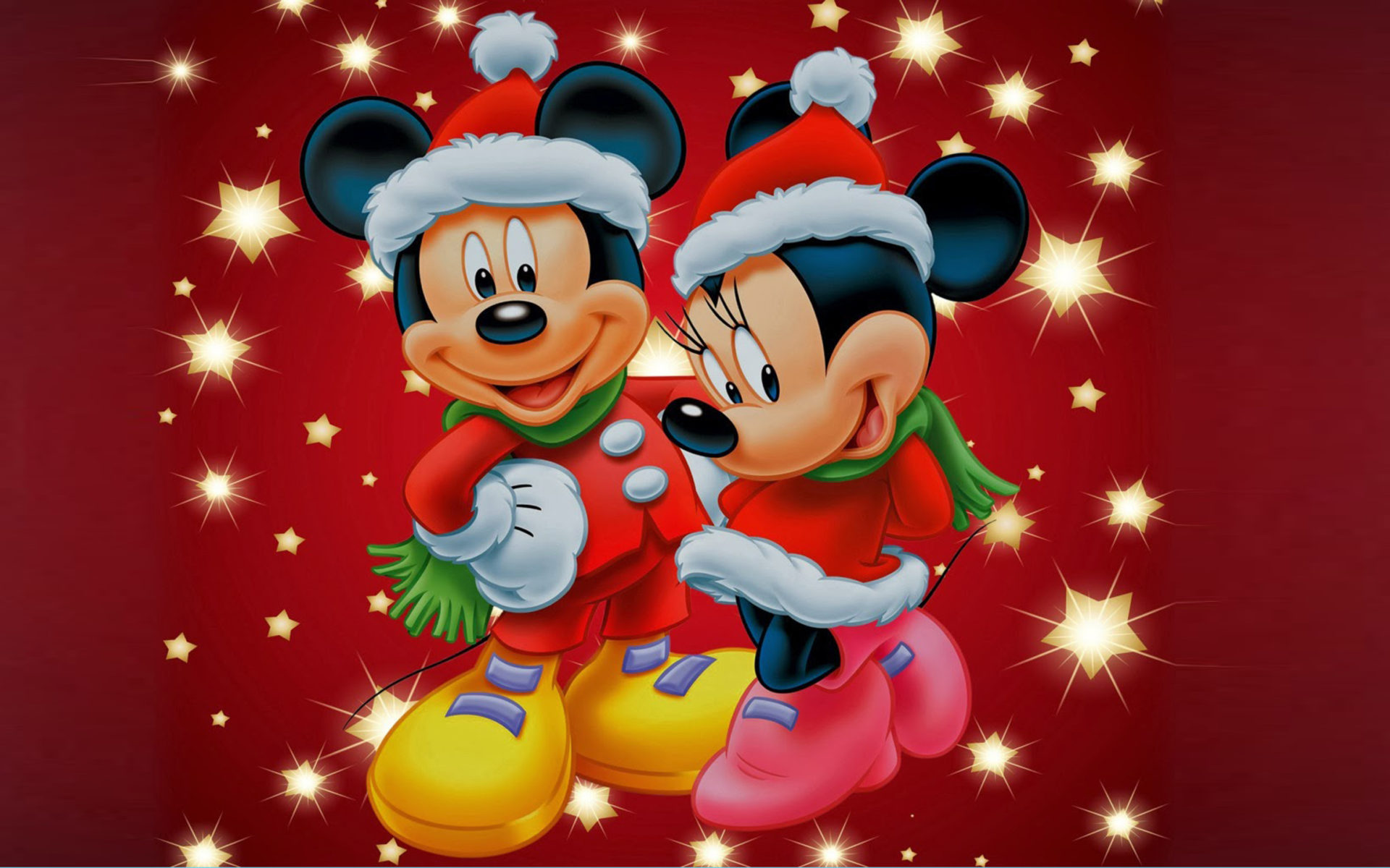 Hd Puzzle Wallpaper Mickey And Minnie Mouse Christmas Theme Desktop Wallpaper