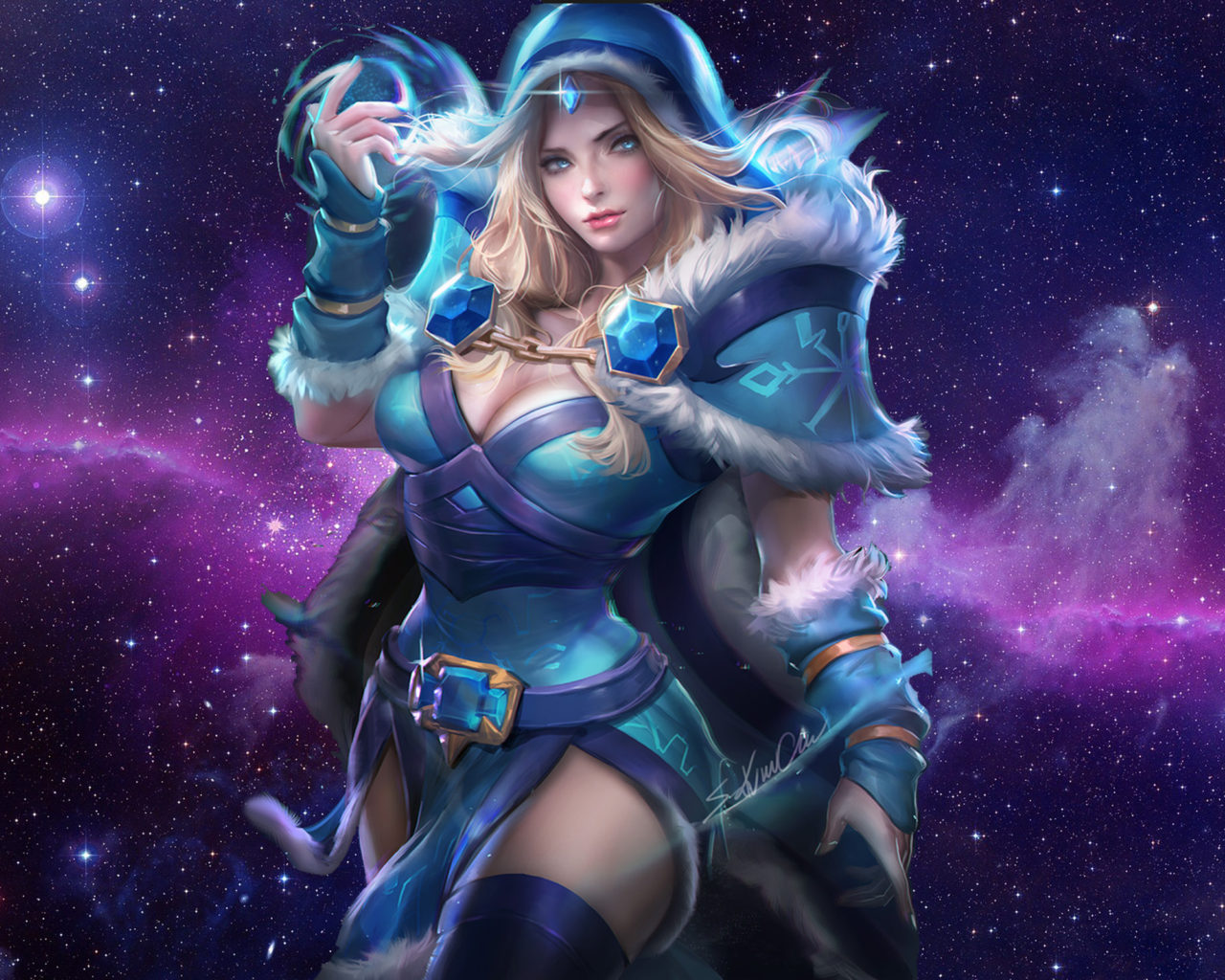 Beautiful Girl Wallpaper Hd 16 Sakimichan Rylai The Crystal Maiden Dota 2 Art Picture Of