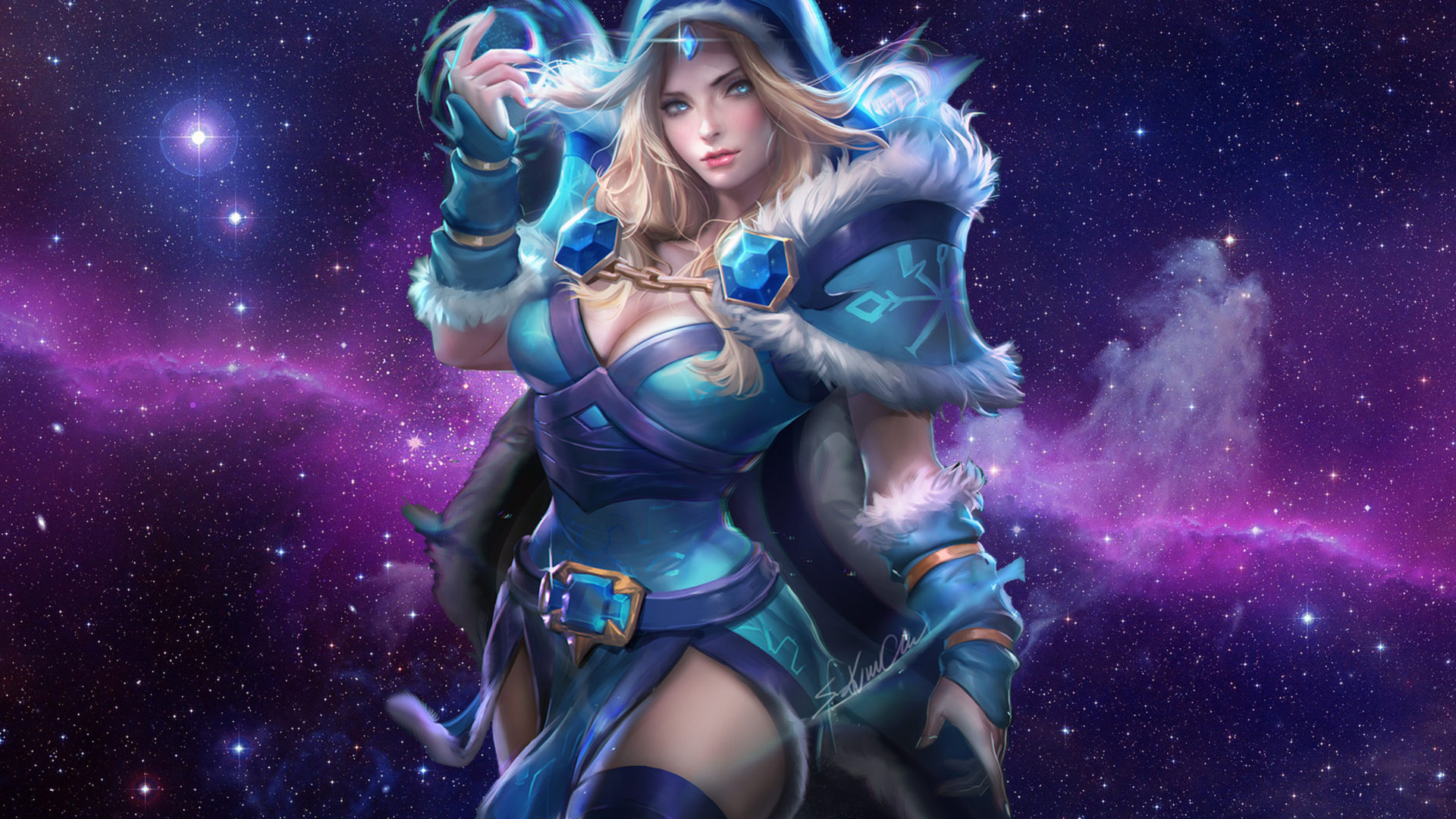 Free Hd Car Wallpaper Download For Pc Sakimichan Rylai The Crystal Maiden Dota 2 Art Picture Of