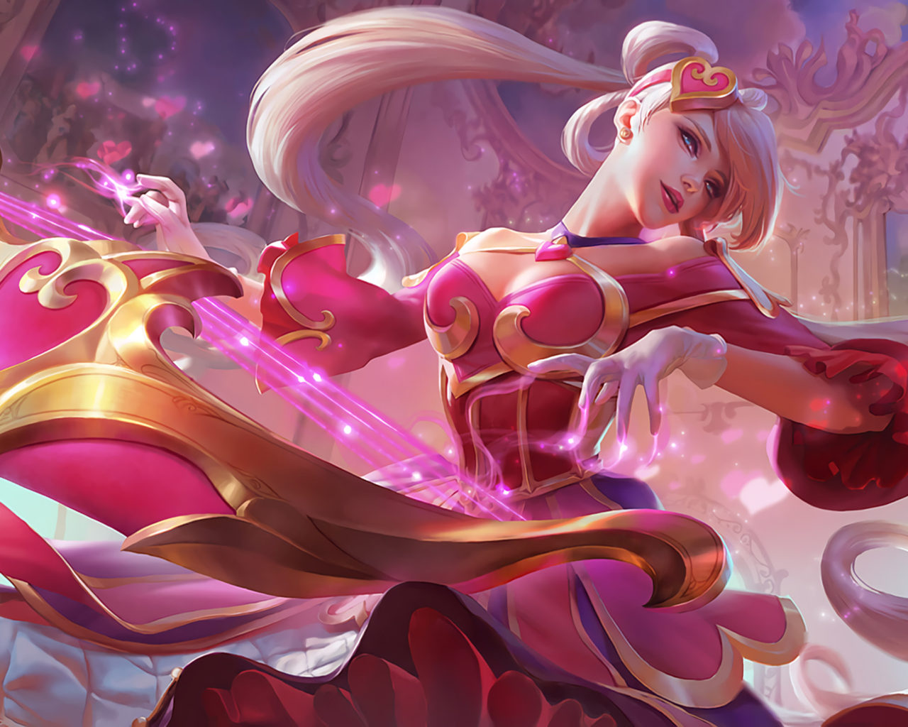 Animated New Year Wallpaper Video Game League Of Legends Sweetheart Sona Orianna