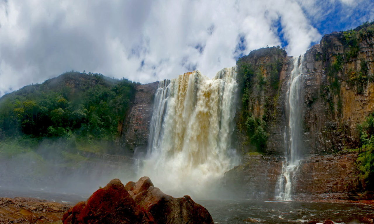 Iphone Wallpaper Waterfall Angel Falls Guayana Canaima National Park Venezuela Hd
