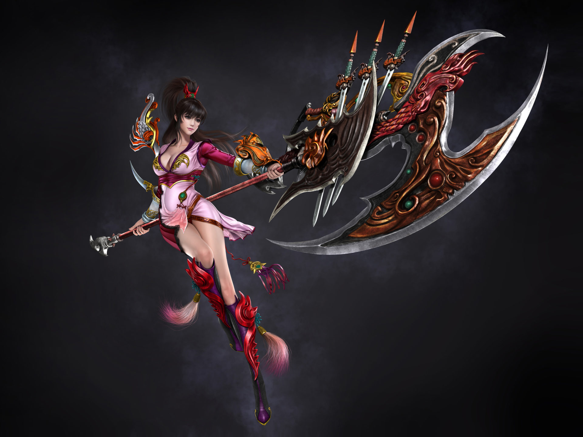 Animated Wallpaper Android Tablet Dynasty Jade Regenesis Video Game Character Girl With An
