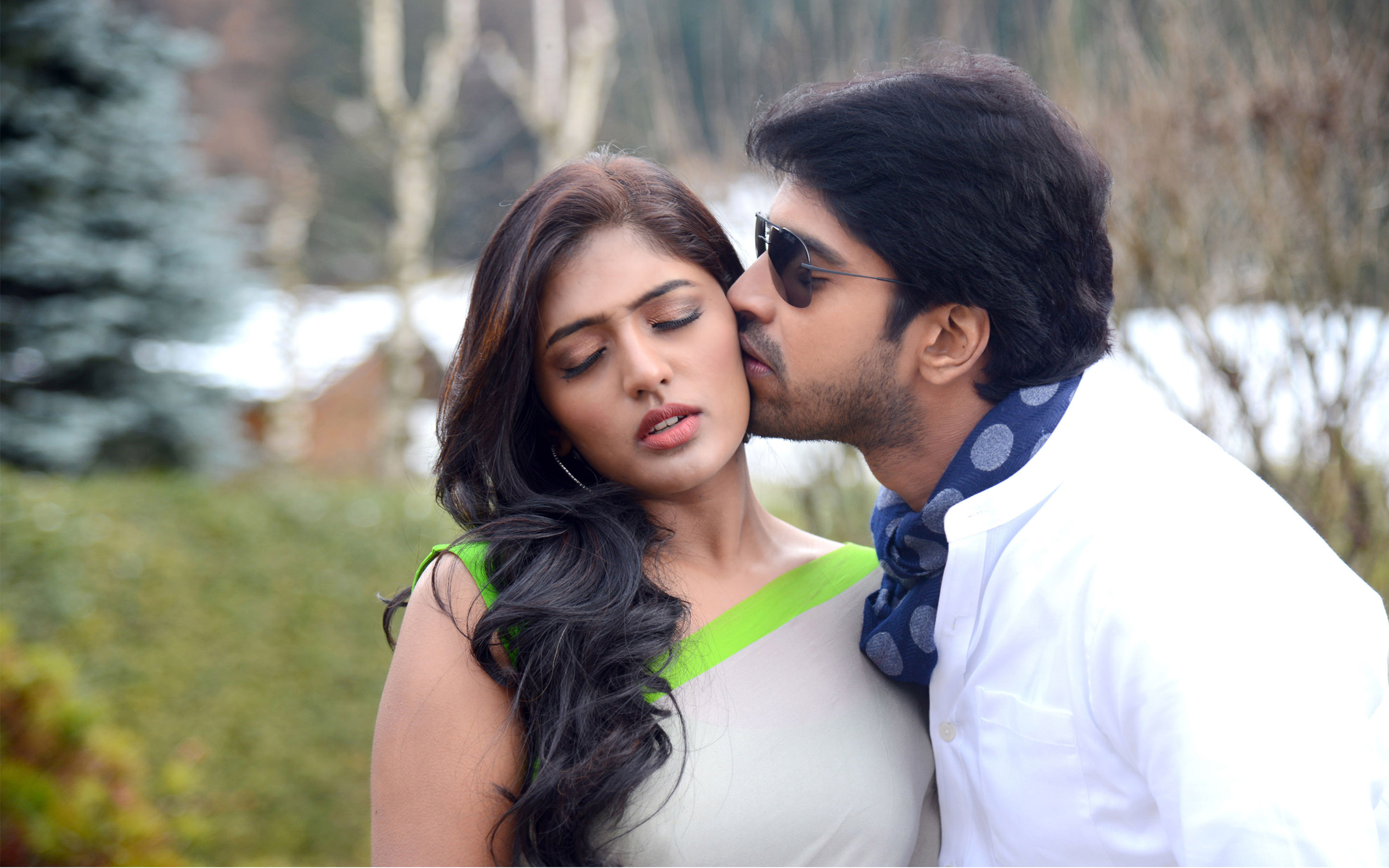 Girl Boy Love Birds Wallpaper Download Gentle Kiss On The Cheek Allari Naresh Bandipotu Latest