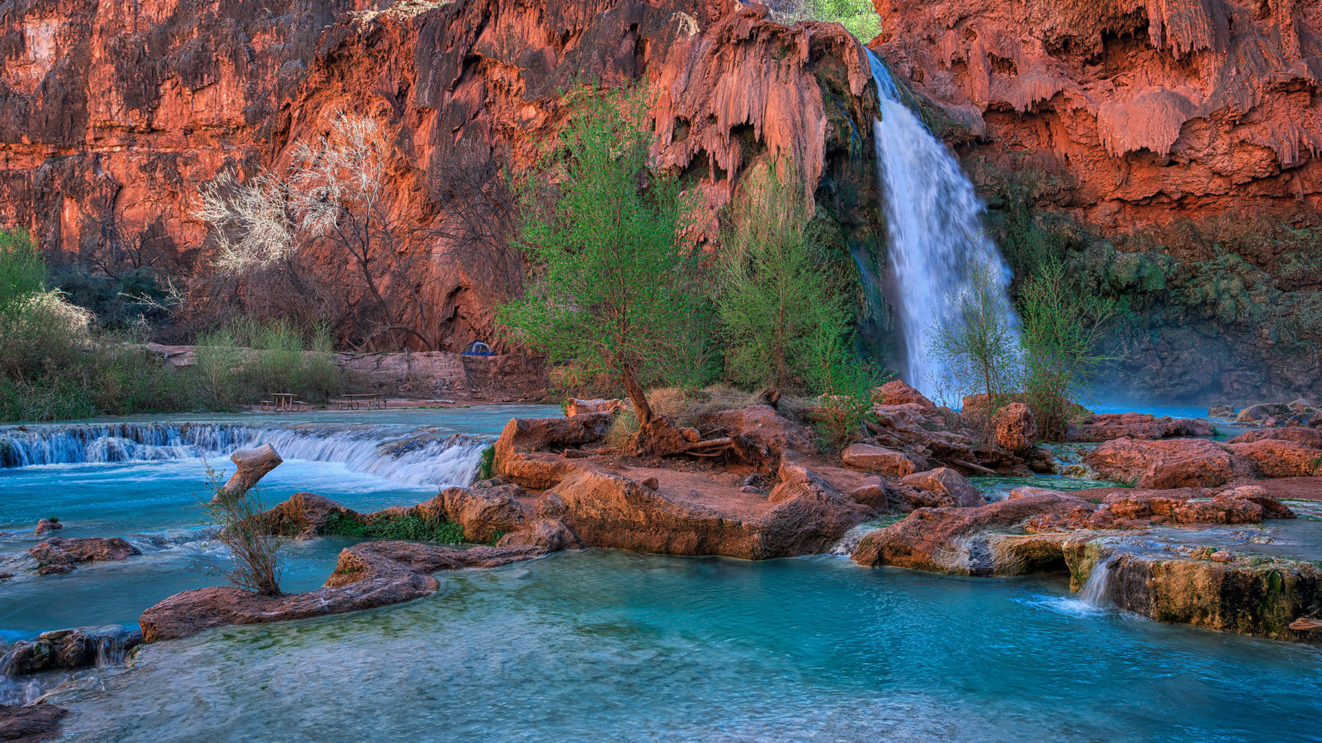 Havasu Falls Wallpaper Havasu Falls Arizona Usa Desktop Wallpaper Backgrounds