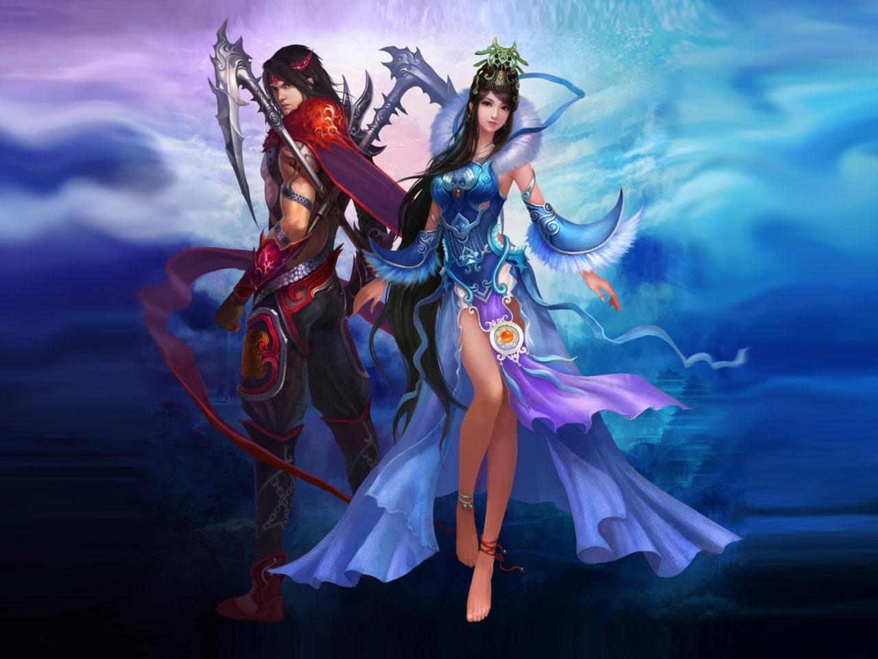 1920x1080 Wallpaper Fantasy Girl Jade Dynasty Video Game Desktop Wallpaper Hd Resolution