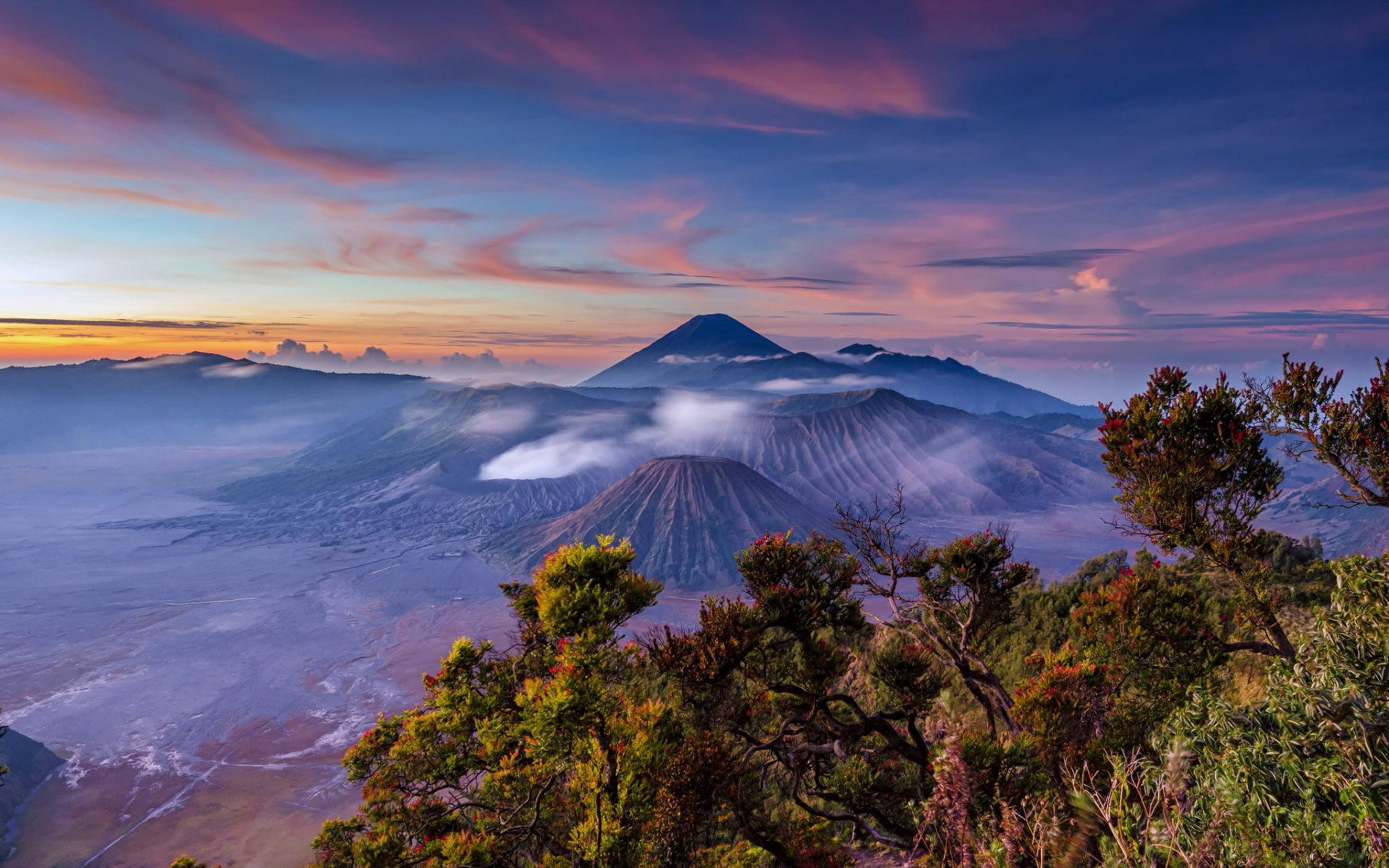 Computer Desktop Hd Wallpapers Fall Landscape Sunrise Indonesia Stratovolcano Java Mount Bromo