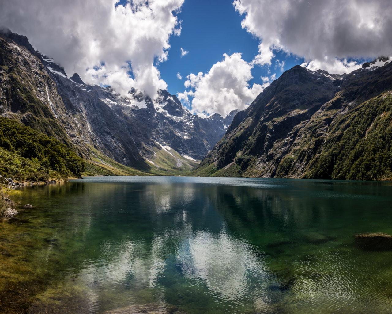 Beautiful Water Fall Scenery Wallpapers Natural Beauty Mountain Lake Marian New Zealand Hd