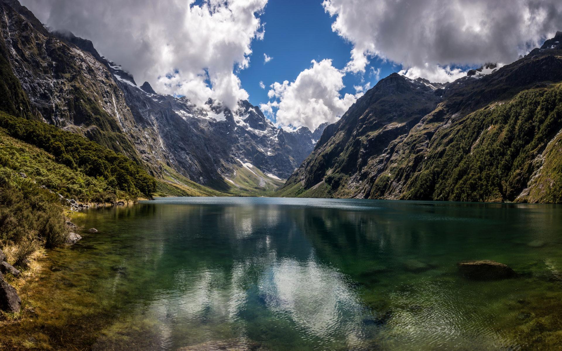 High Resolution Fall Wallpaper Natural Beauty Mountain Lake Marian New Zealand Hd