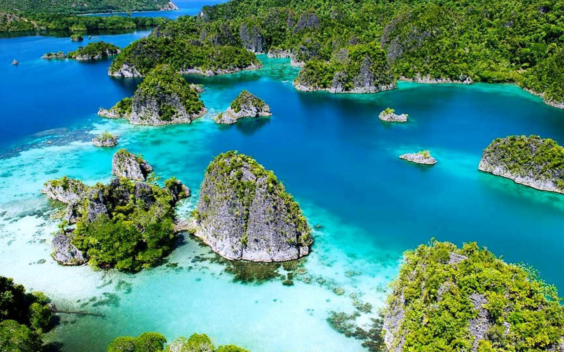 Fall Wooden Wallpaper Raja Ampat Indonesia Tropical Islands With Green