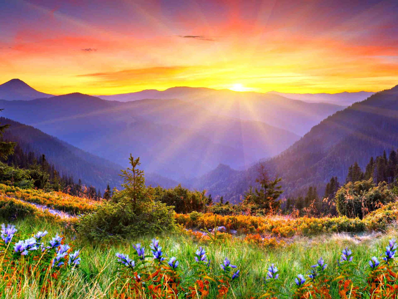 Beautiful Cars Wallpapers For Pc Awesome Sunset Sun Rays Forested Mountains Beautiful