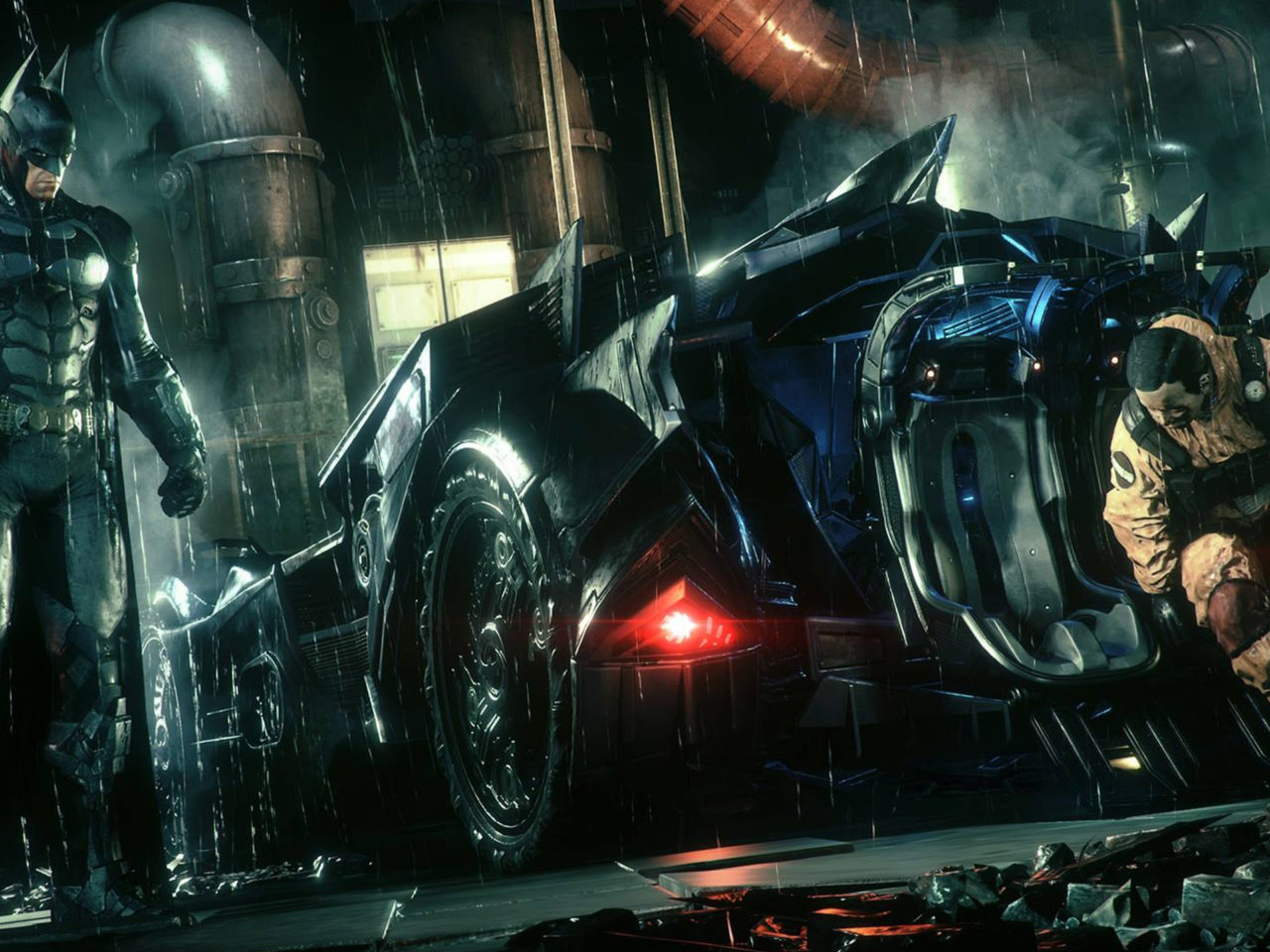 Wallpaper Desktop 1366x768 Car Batman Arkham Knight Beth Car Hd Wallpaper Download For