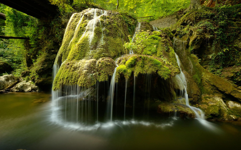 3 Creen Wallpaper Fall Cascade Waterfall Bigar Transylvania Romania Desktop