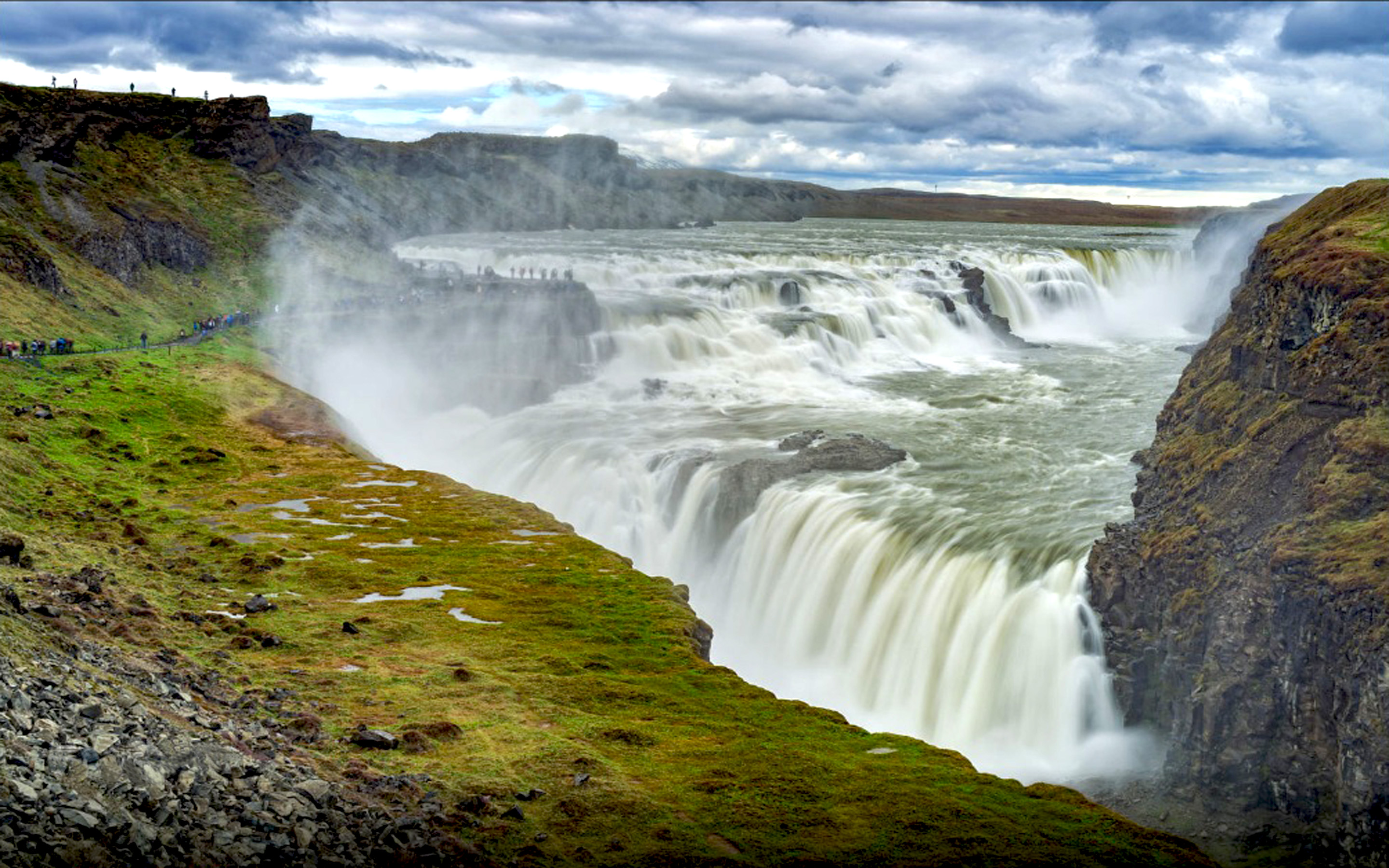 Free Fall Wallpaper 1920x1080 Gullfoss Waterfall In Iceland Desktop Wallpaper Hd