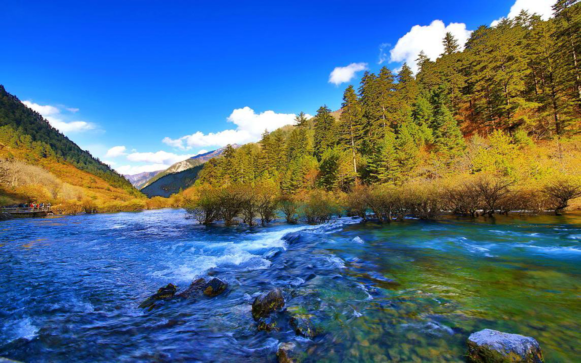3d Amazing Art Wallpapers Jiuzhai Valley National Park Jiuzhaigou China Mountain