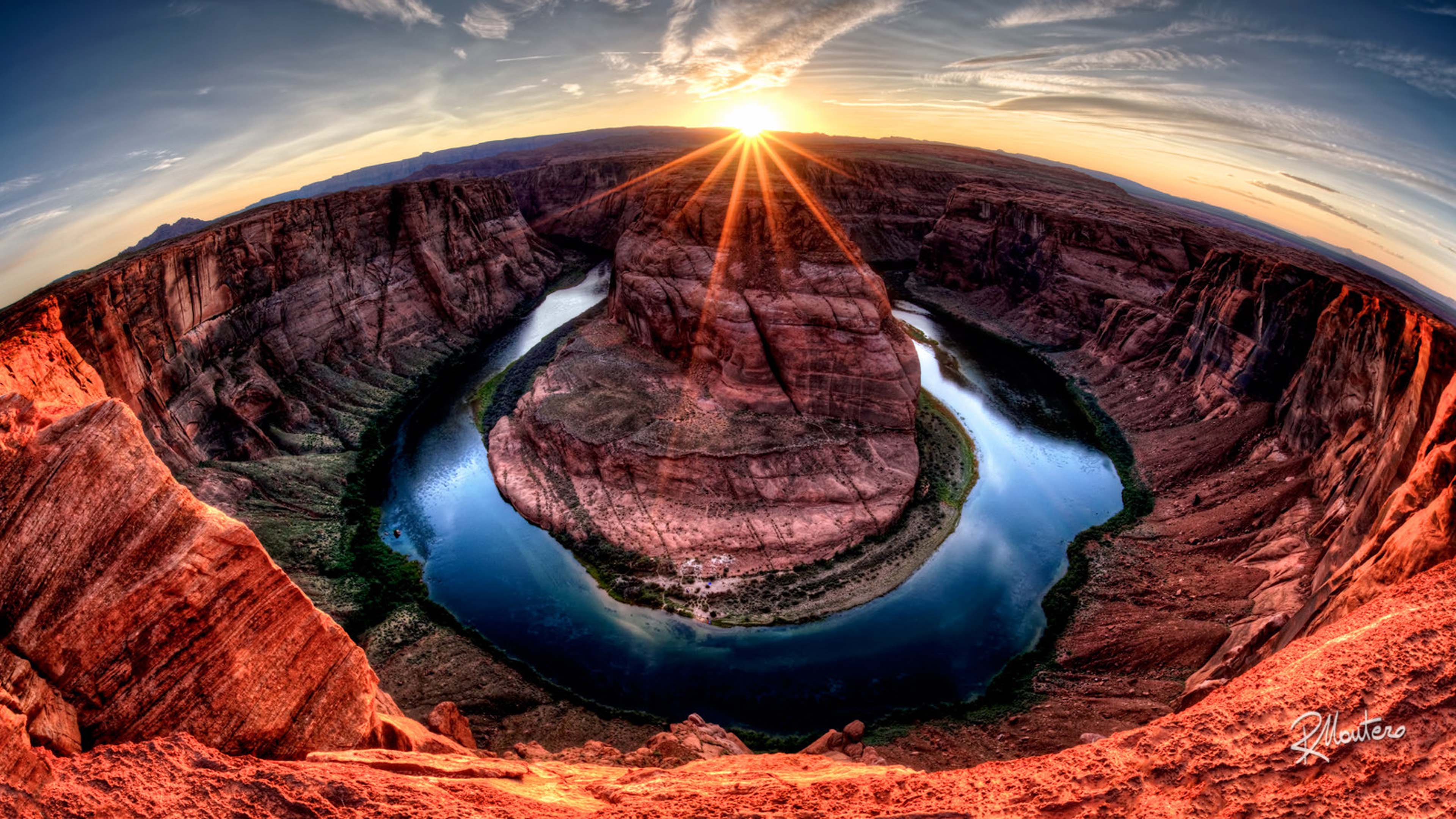 3d Fall Desktop Wallpaper Landscape Wallpaper Hd Curve Shooting The Horseshoe Bend