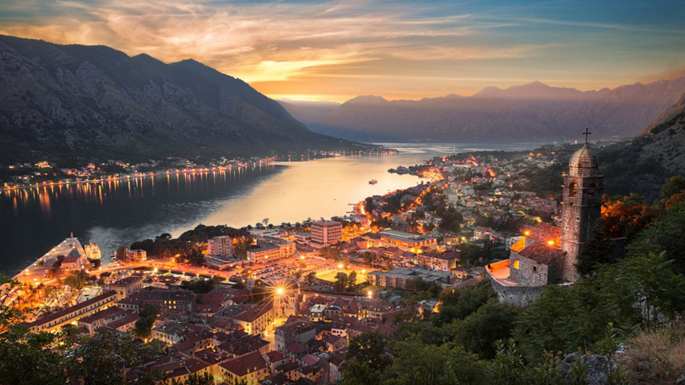Free Desktop Wallpaper Classic Cars Montenegro City Kotor At Night Desktop Wallpaper Hd