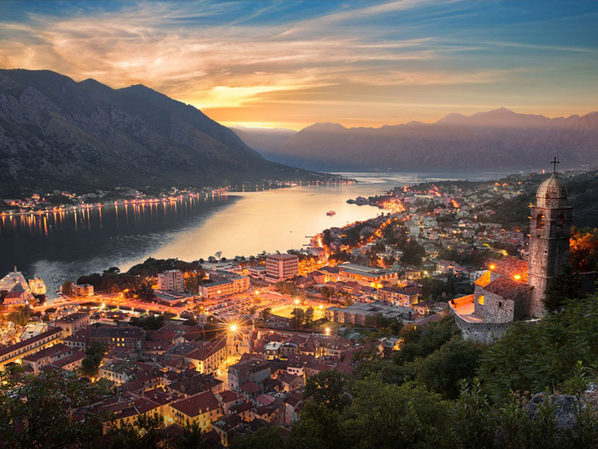 Wallpaper Batman Iphone X Montenegro City Kotor At Night Desktop Wallpaper Hd