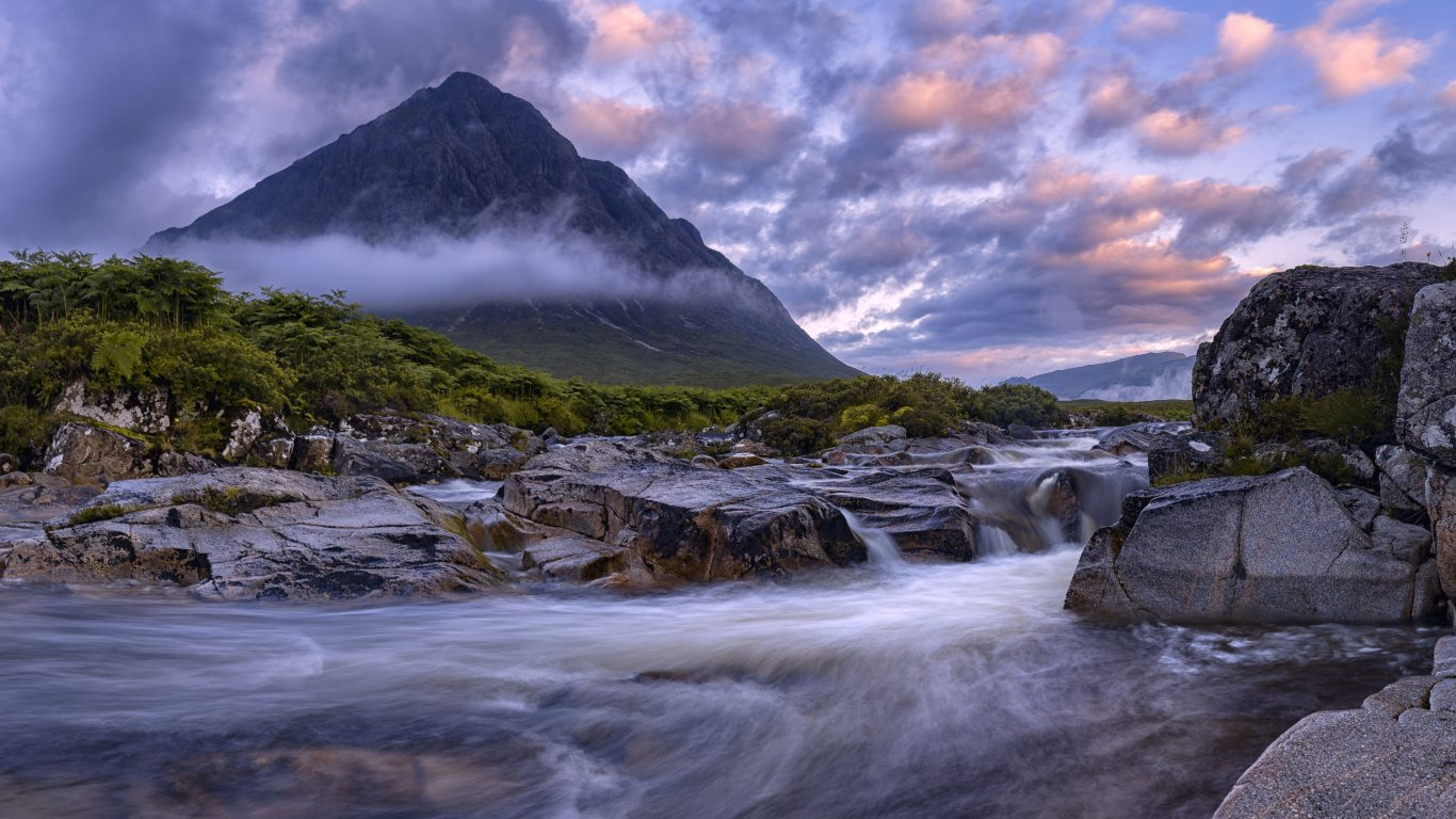 Fall In New England Wallpaper Buachaille Etive Mor Glencoe Scotland View From The River